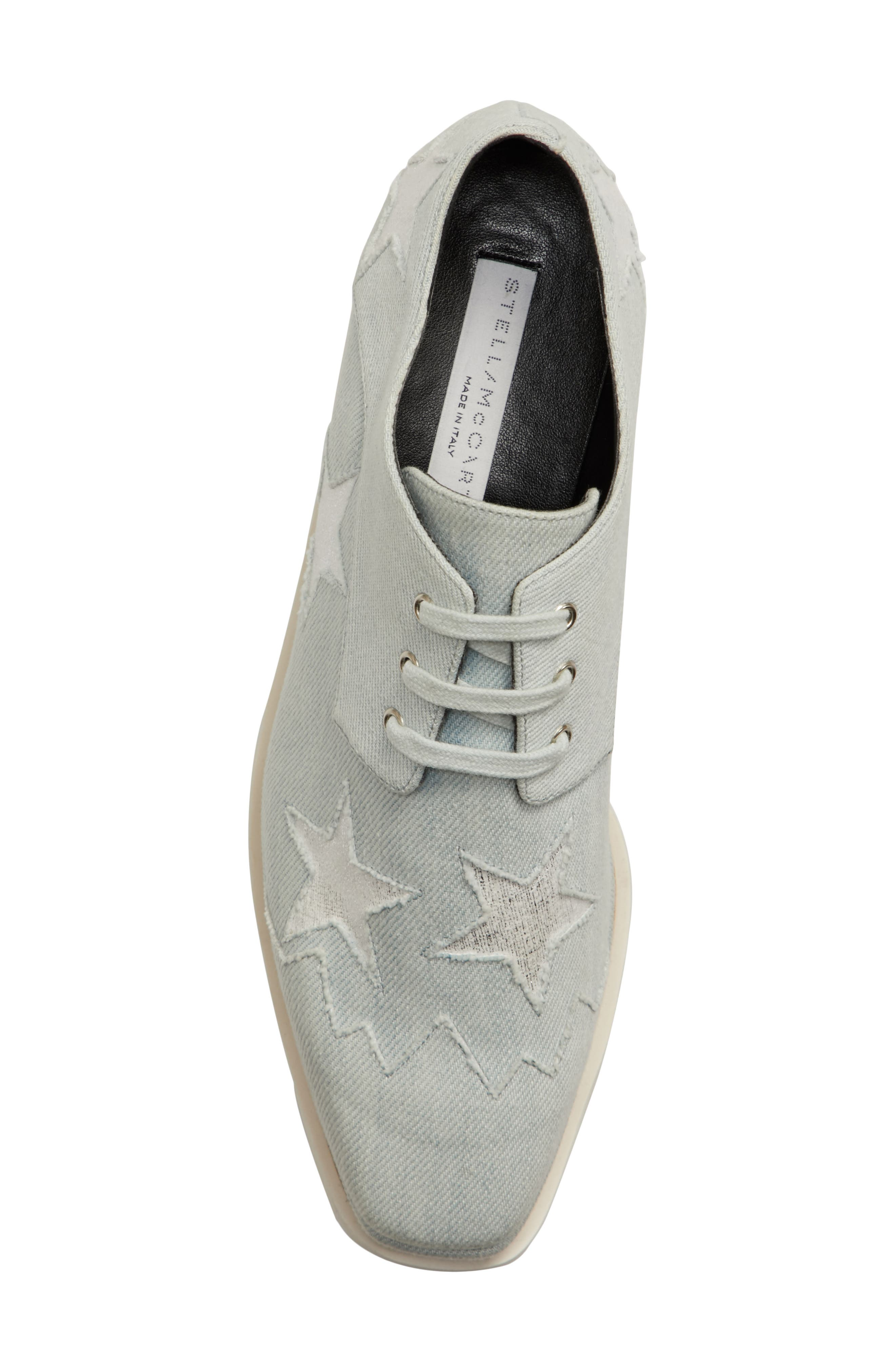Elyse Platform Oxford,                             Alternate thumbnail 5, color,                             Denim/ Silver