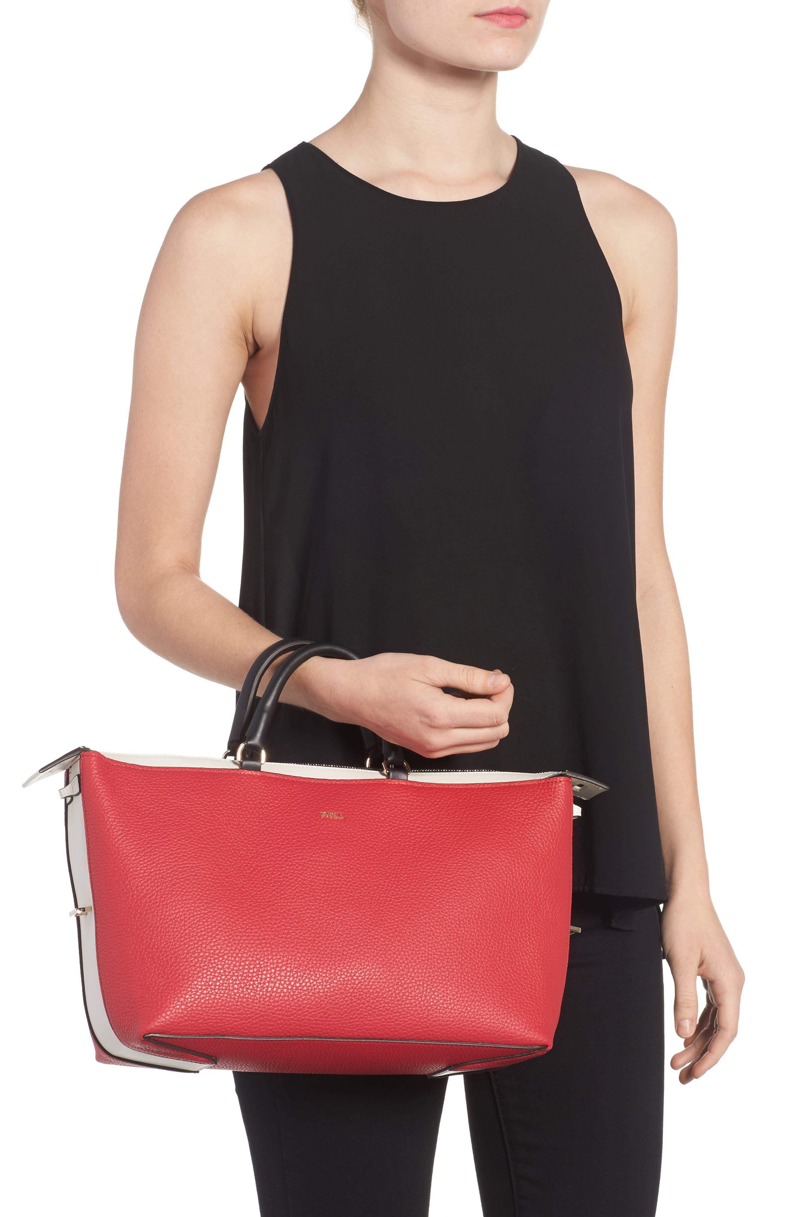 Alternate Image 2  - Furla Blogger Colorblock Leather Satchel