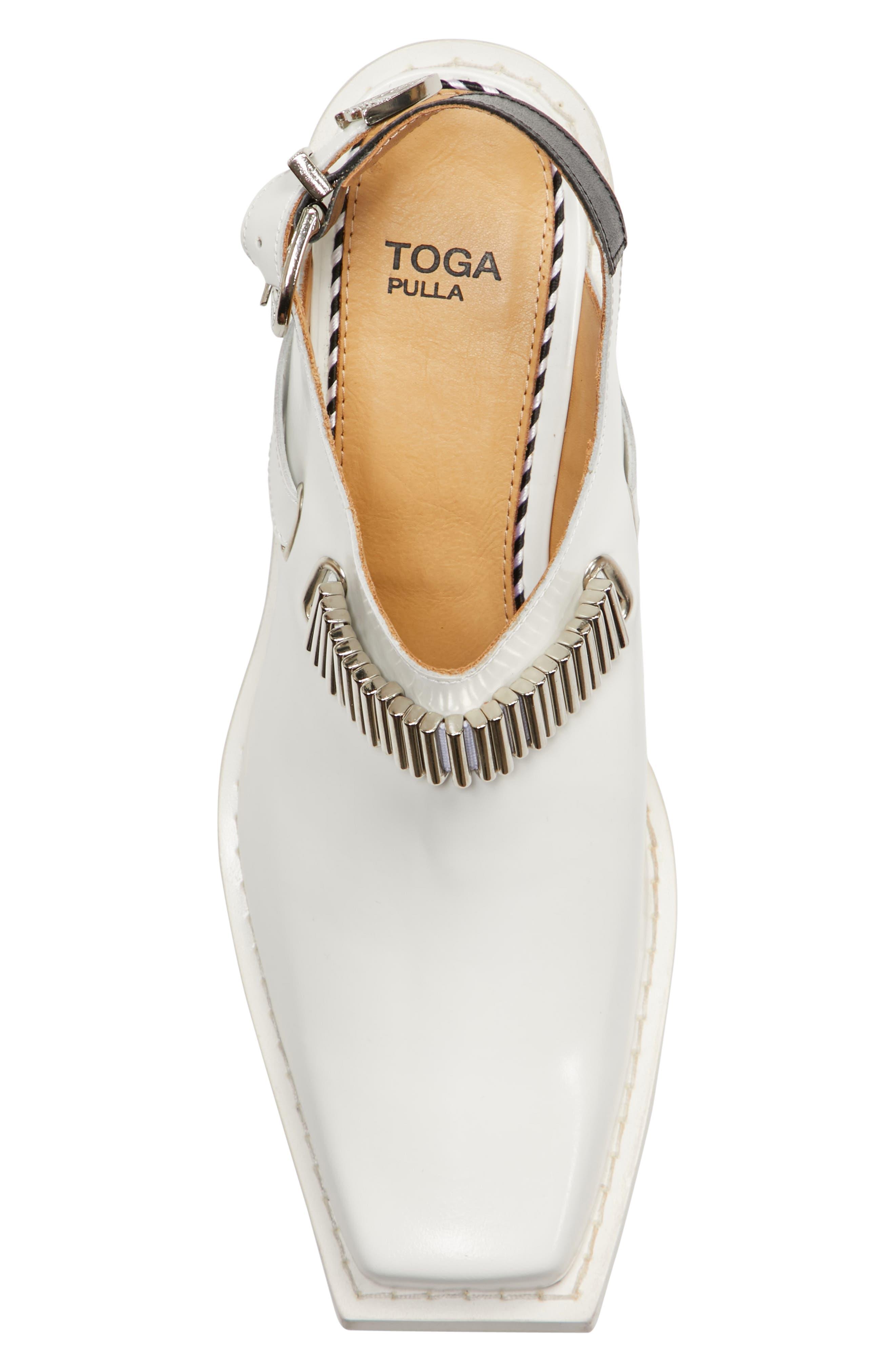 Embellished Slingback Shoe,                             Alternate thumbnail 5, color,                             White Polido