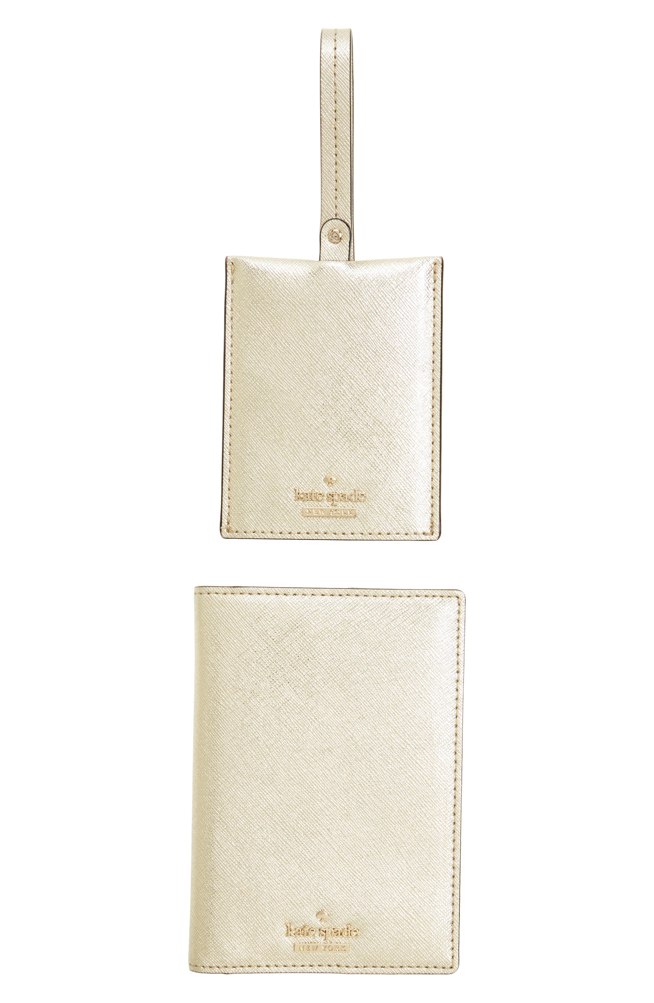 kate spade new york leather passport case & luggage tag set