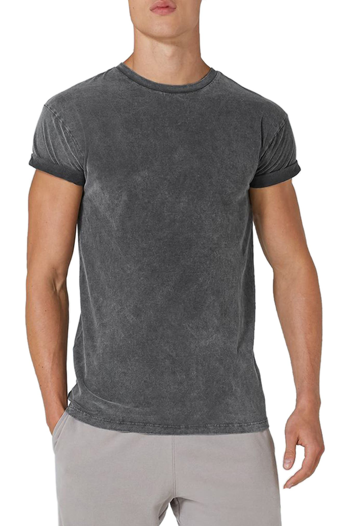 Acid Wash Classic Fit T-Shirt,                             Main thumbnail 1, color,                             Black