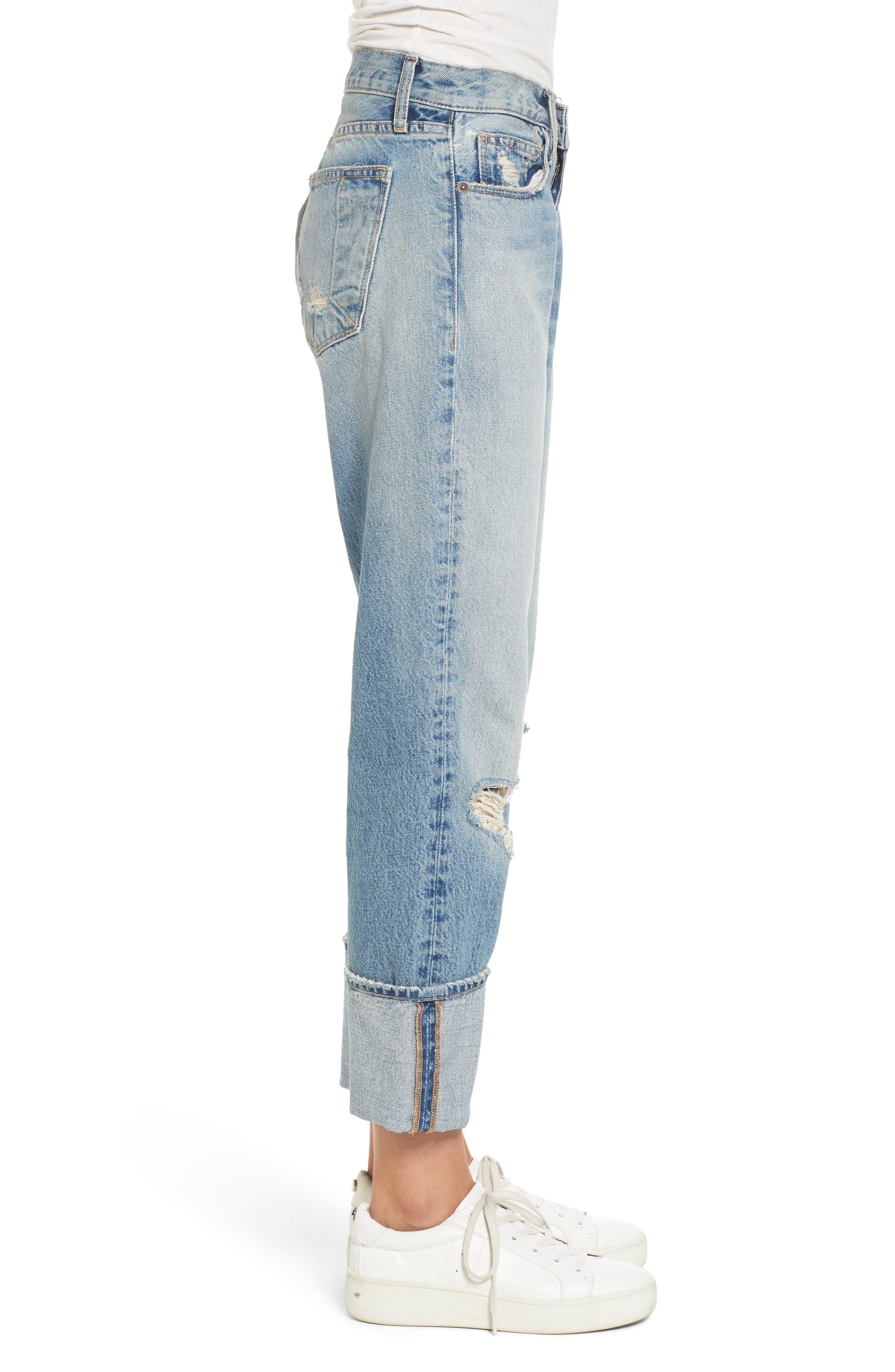 Alternate Image 3  - Current/Elliott The His Boyfriend Jeans (Pinyon Destroy Wash)