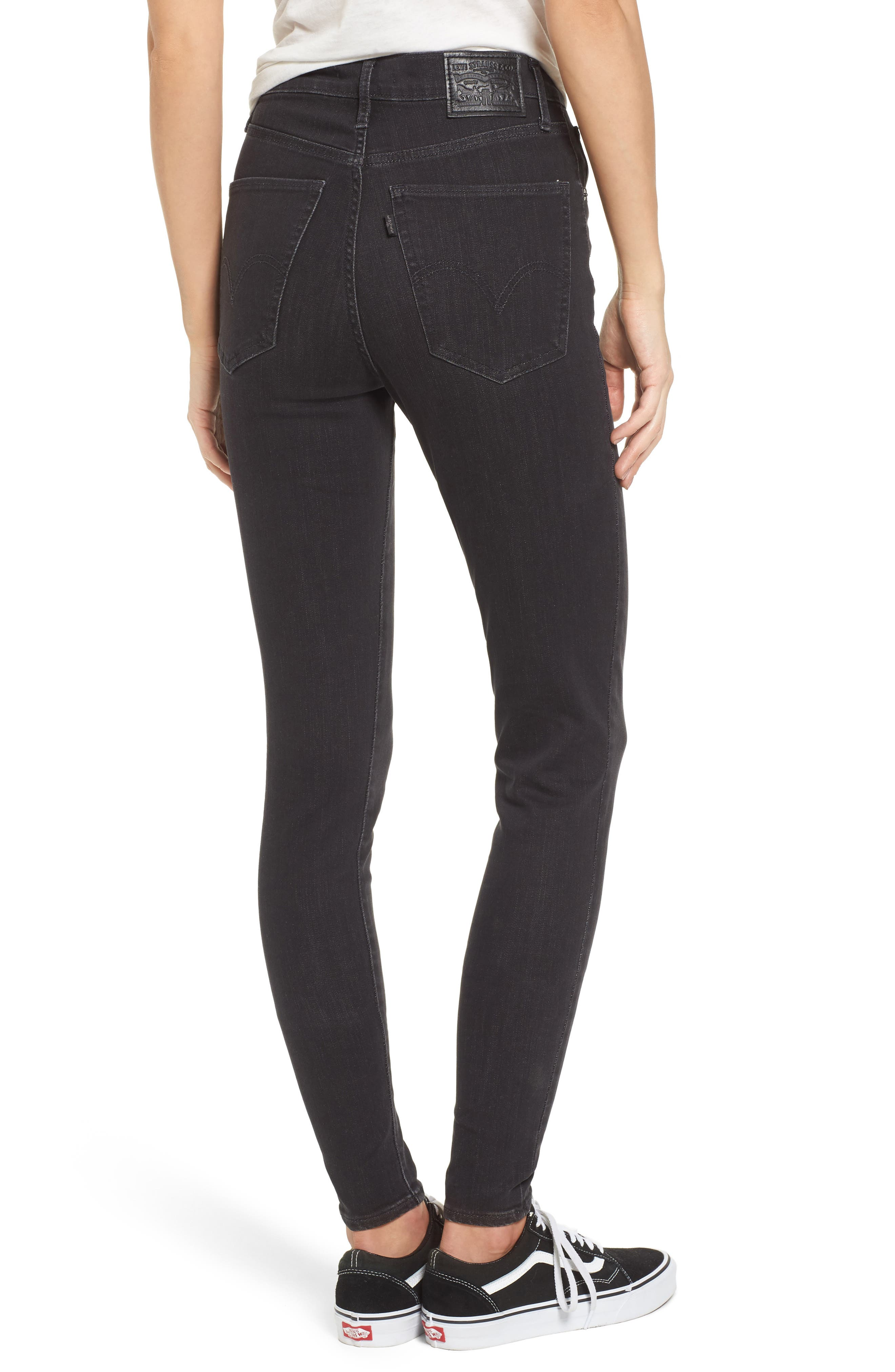 Mile High High Rise Skinny Jeans,                             Alternate thumbnail 2, color,                             Faded Ink