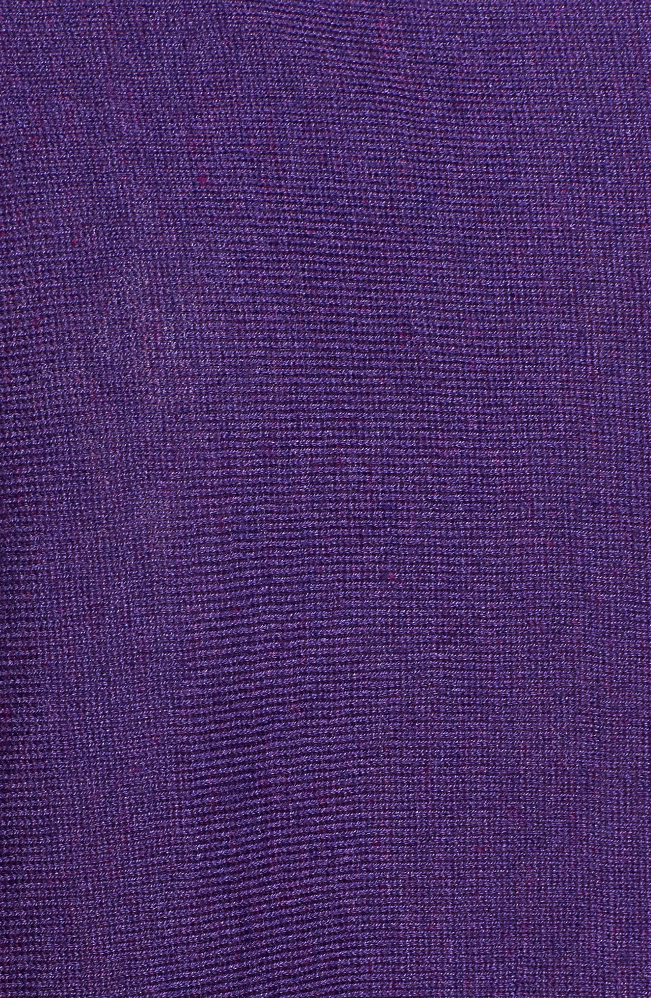 Tencel<sup>®</sup> Lyocell Blend High/Low Sweater,                             Alternate thumbnail 5, color,                             Ultraviolet
