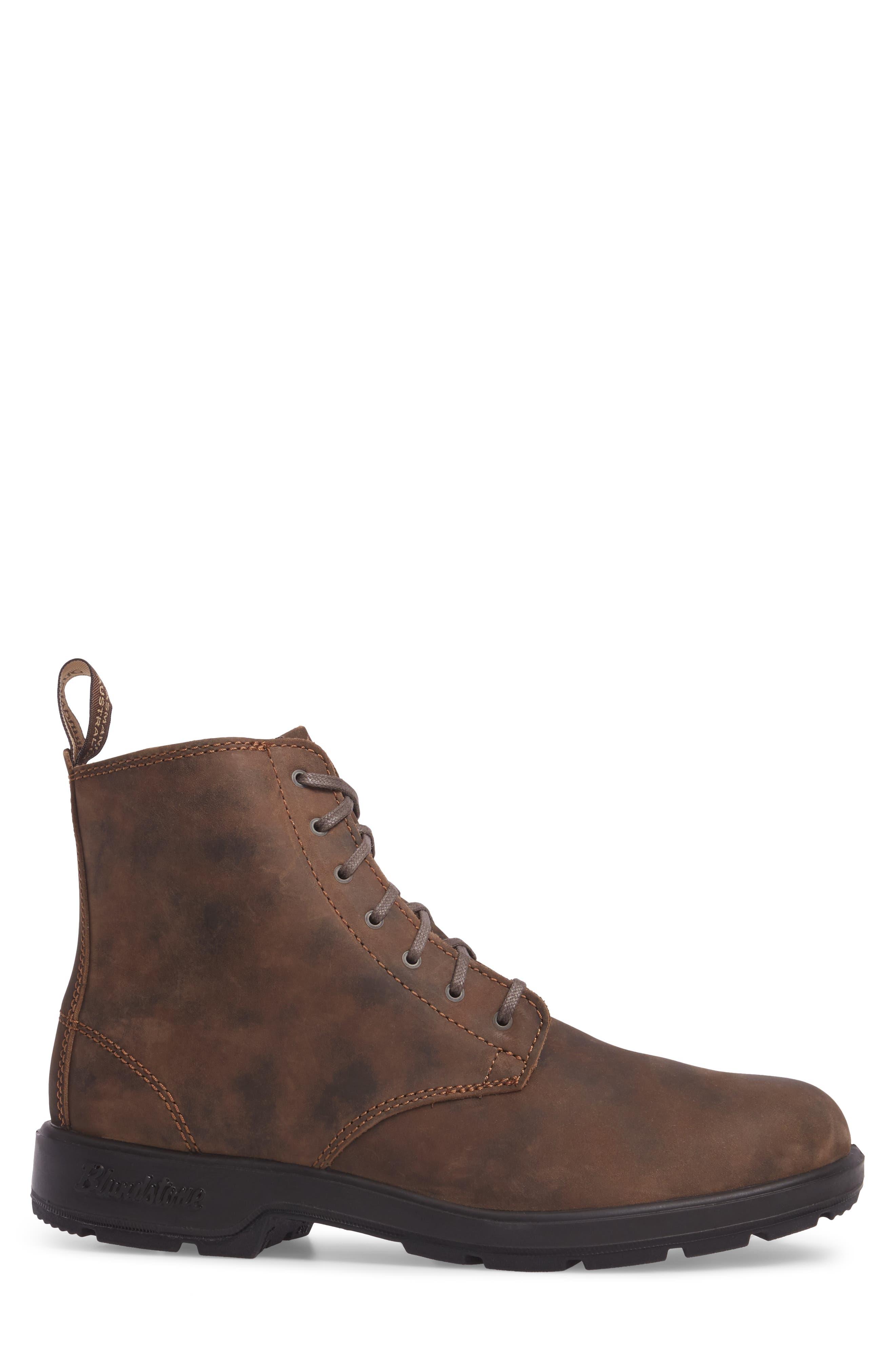 Original Plain Toe Boot,                             Alternate thumbnail 3, color,                             Rustic Brown Leather