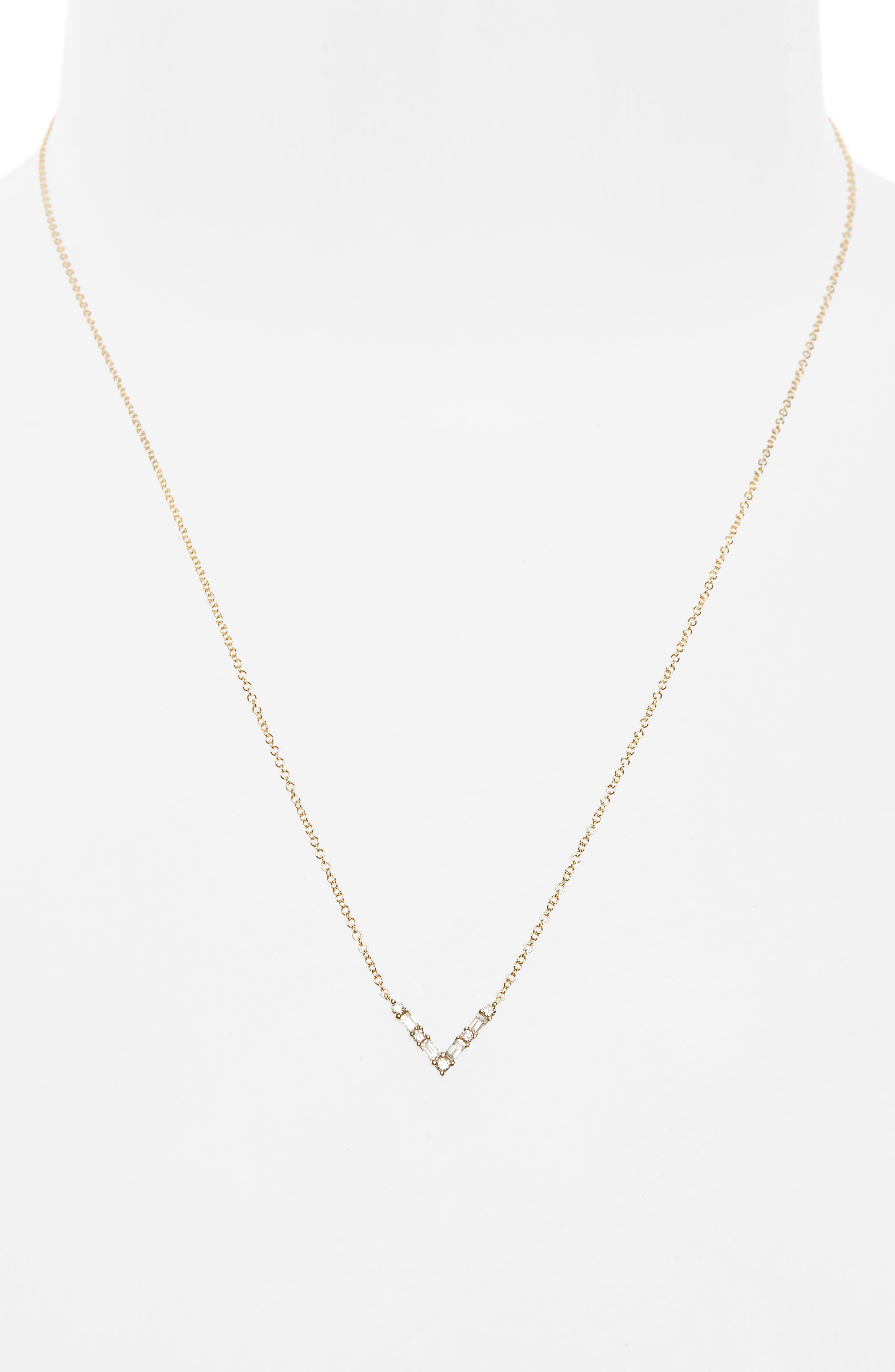 Alternate Image 2  - EF COLLECTION Diamond Baguette Pendant Necklace