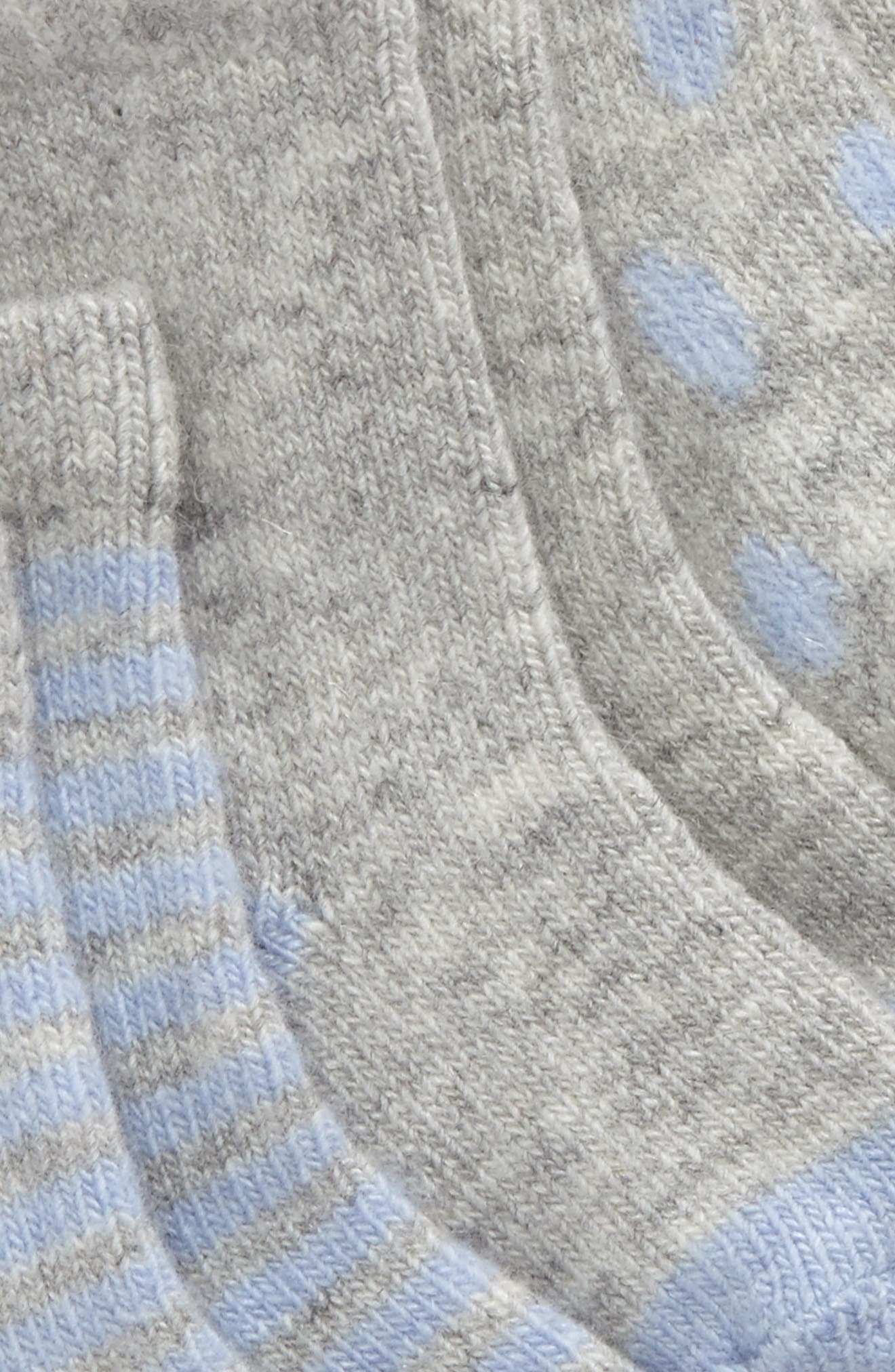 Assorted 3-Pack Wool & Cashmere Socks,                             Alternate thumbnail 2, color,                             Blue