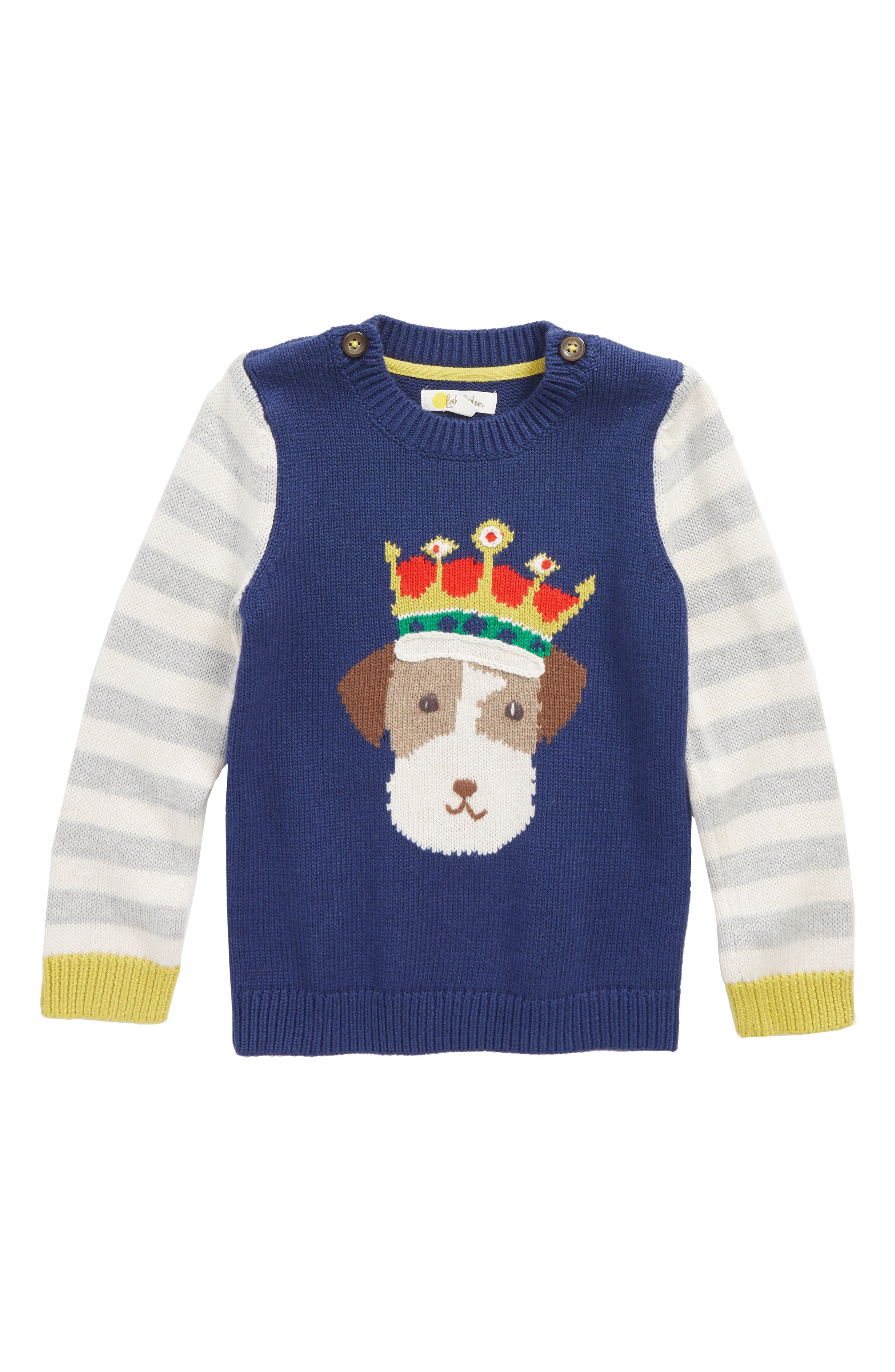 Alternate Image 1 Selected - Mini Boden Fun Knit Sweater (Baby Boys & Toddler Boys)