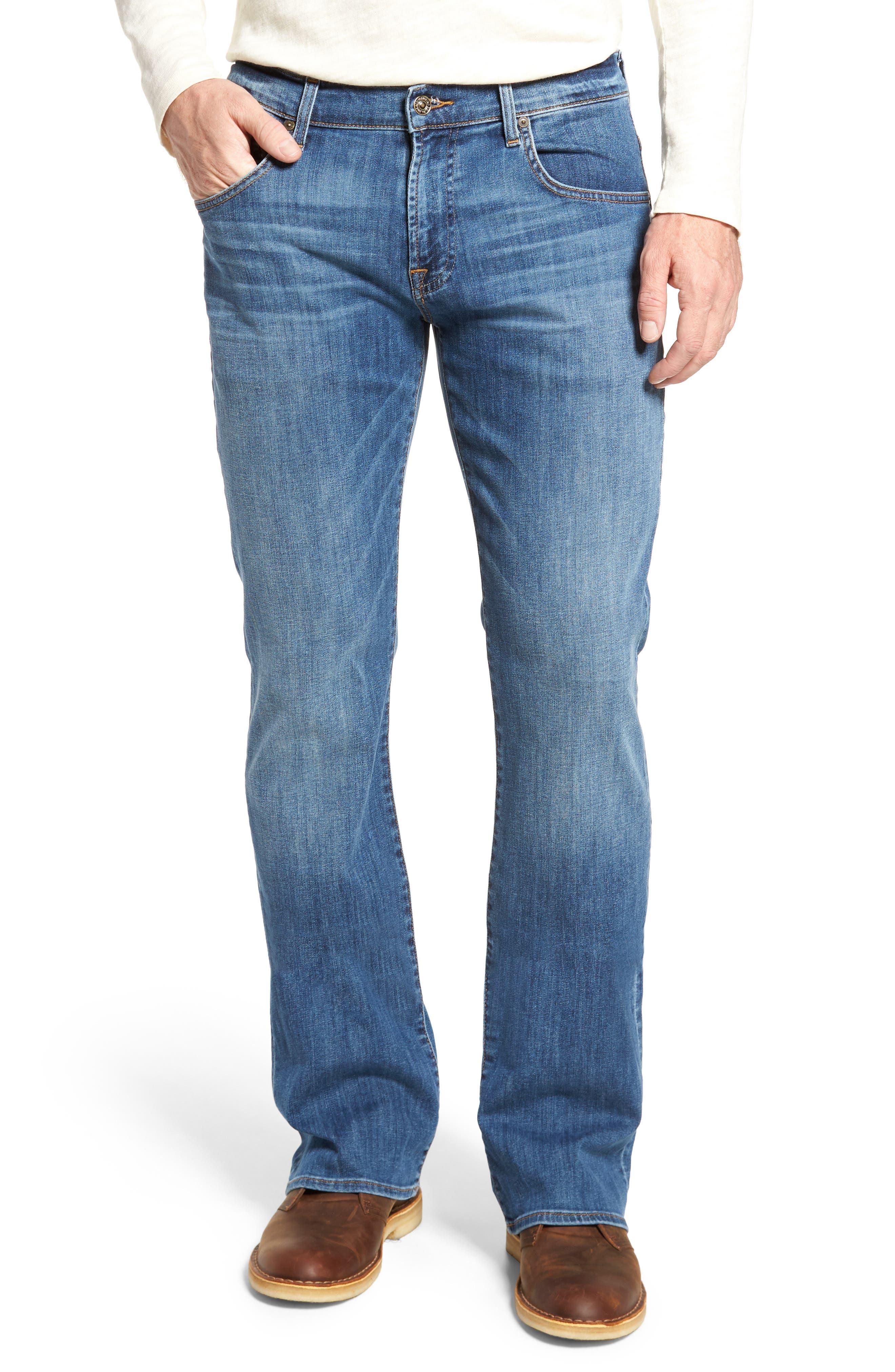 Brett Bootcut Jeans,                         Main,                         color, Aurora