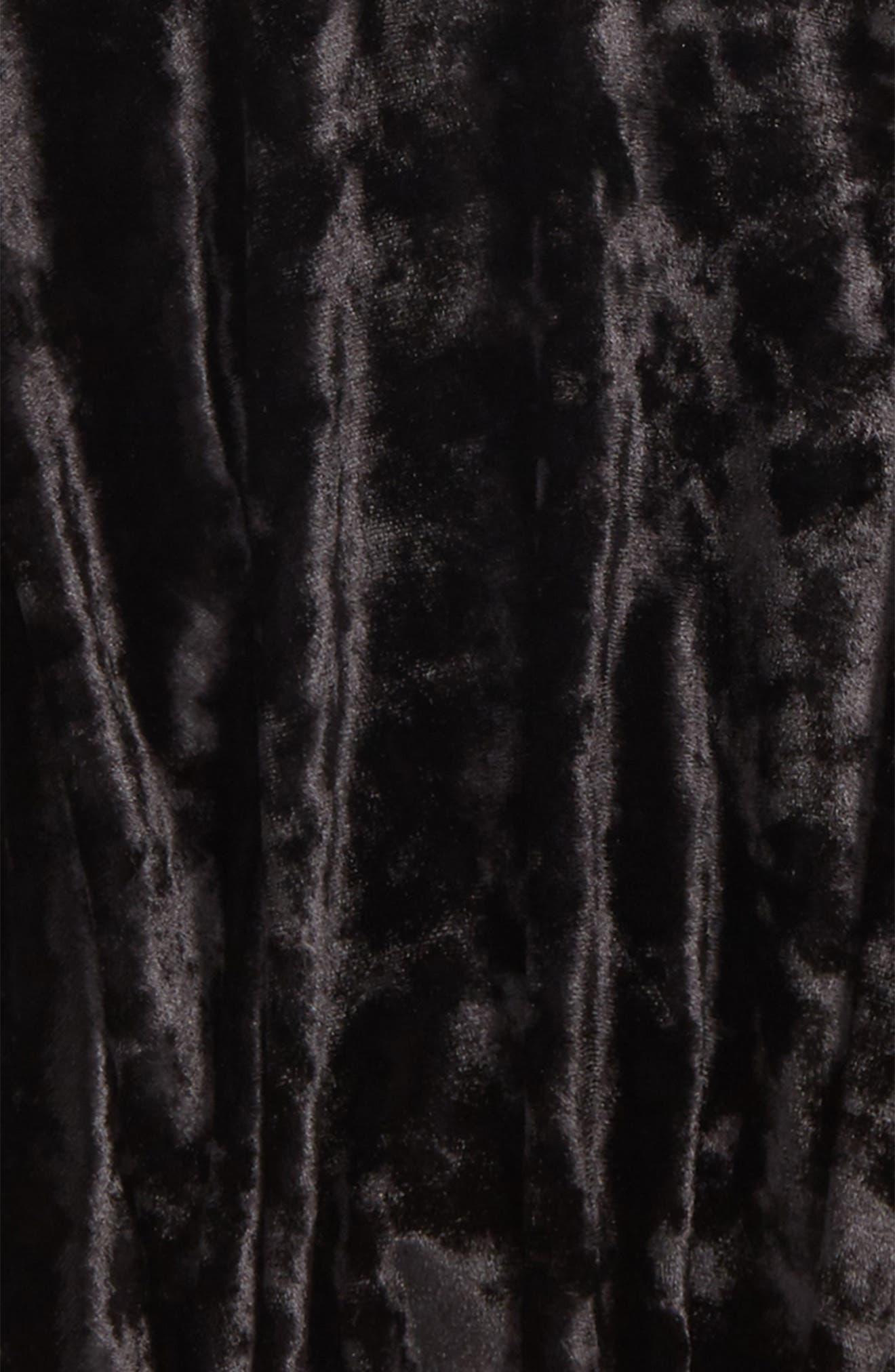 Velour Skater Skirt,                             Alternate thumbnail 2, color,                             Black Rock