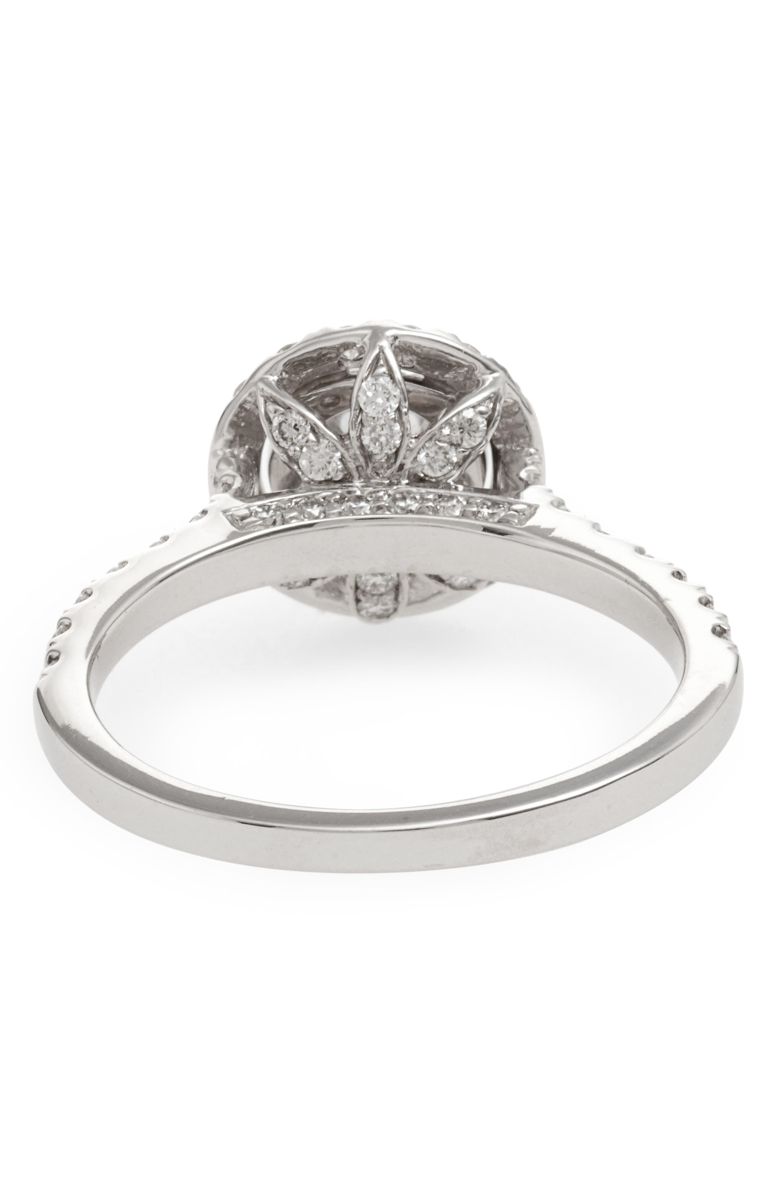 Alternate Image 4  - Bony Levy Pavé Diamond Leaf Engagement Ring Setting (Nordstrom Exclusive)