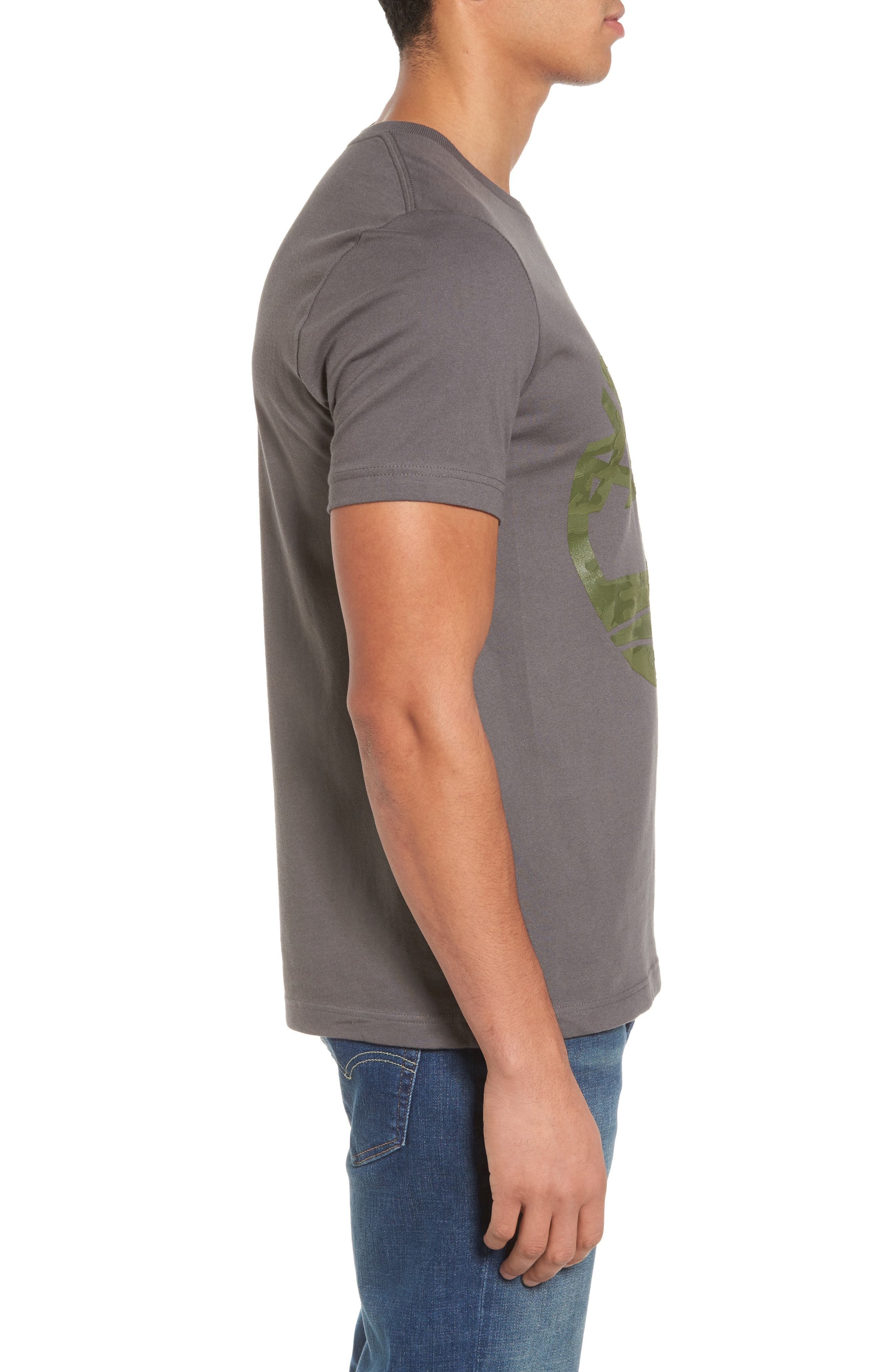 Textured Camo Graphic T-Shirt,                             Alternate thumbnail 3, color,                             Grey