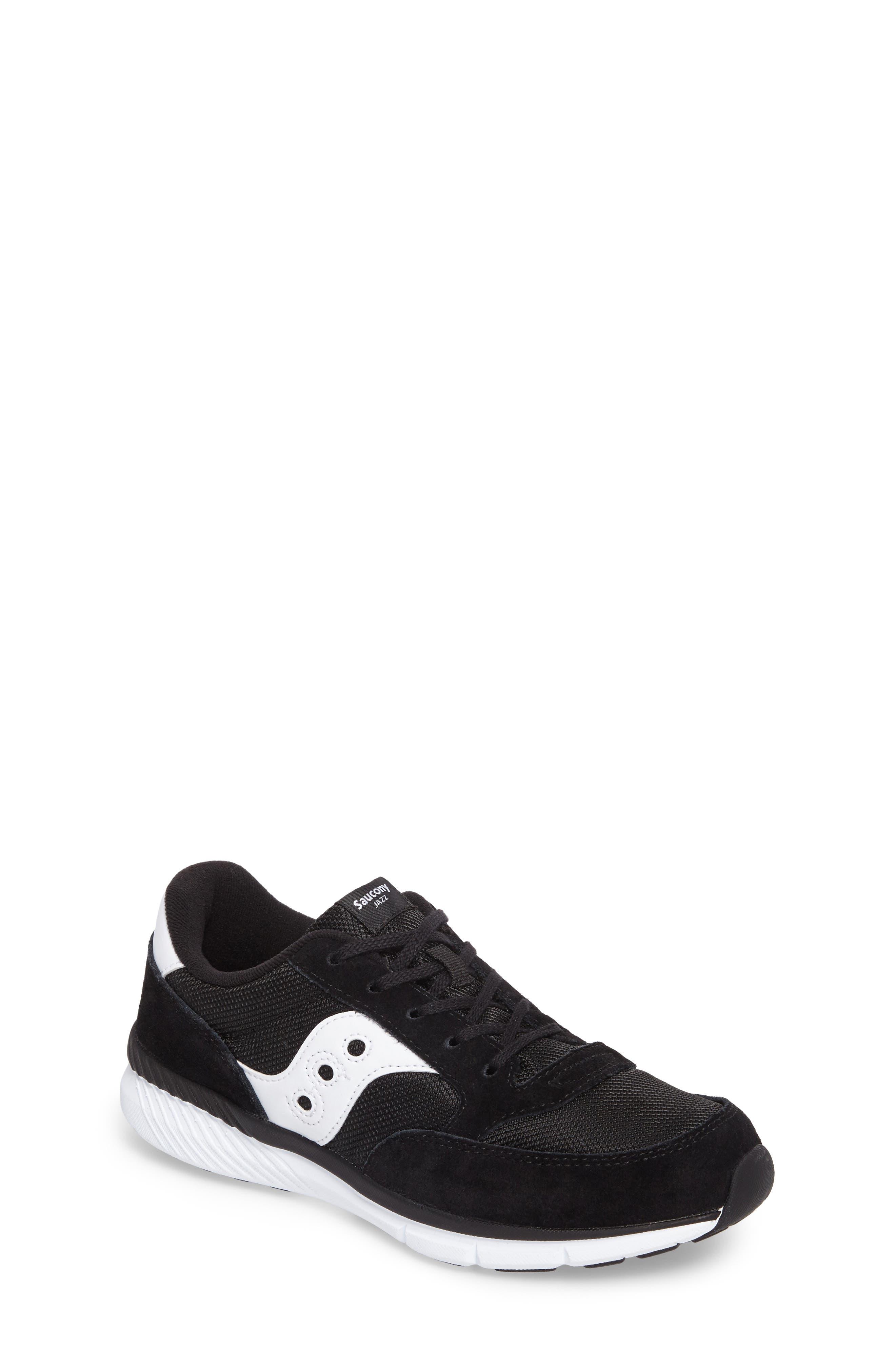 Jazz Lite Athletic Shoe,                             Main thumbnail 1, color,                             Black/ Black