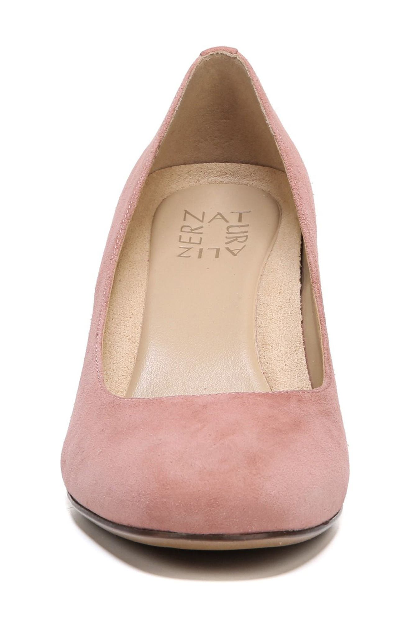 Emily Wedge Pump,                             Alternate thumbnail 5, color,                             Peony Pink Suede