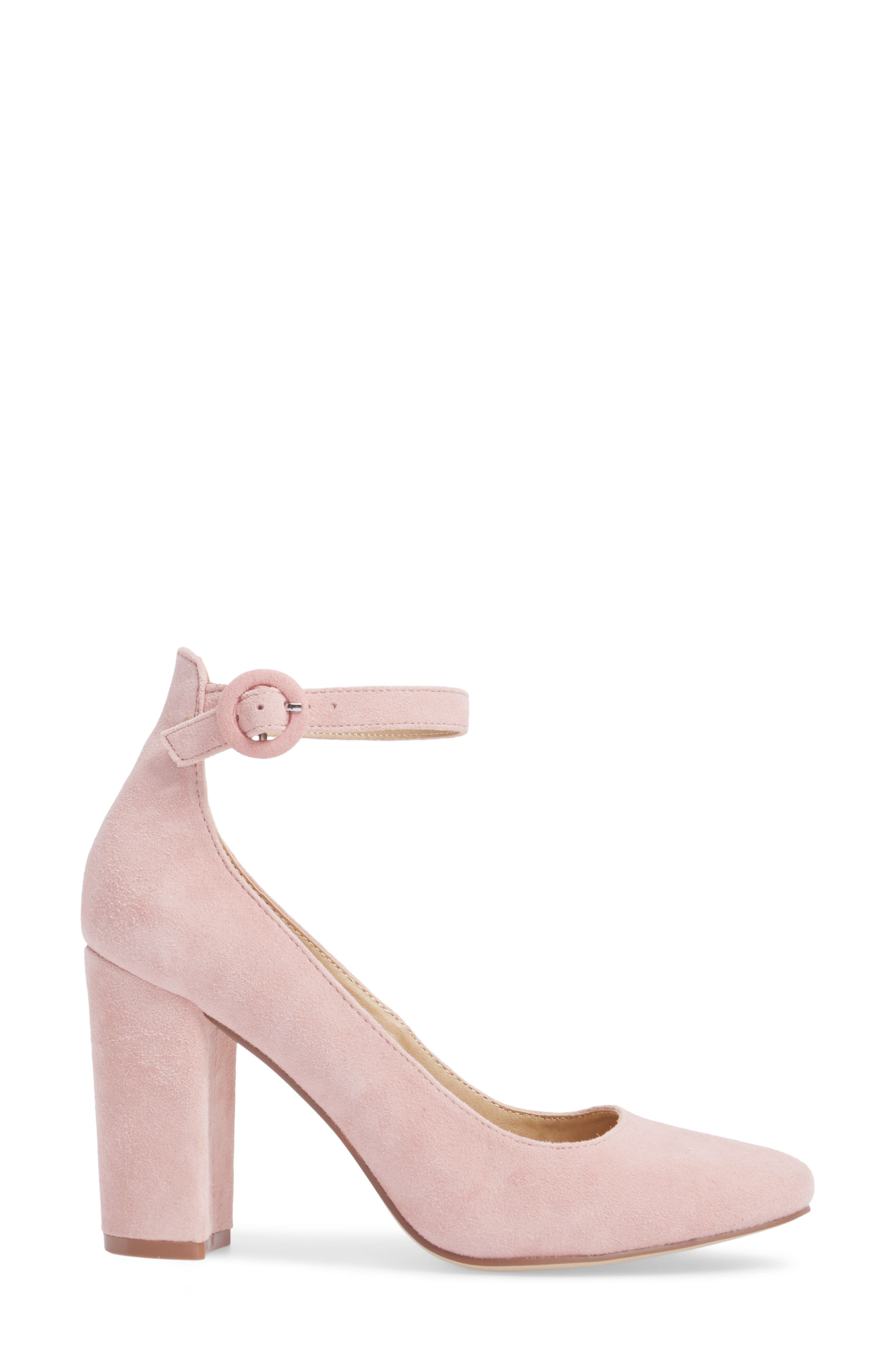 Veronika Pump,                             Alternate thumbnail 3, color,                             Rose Suede