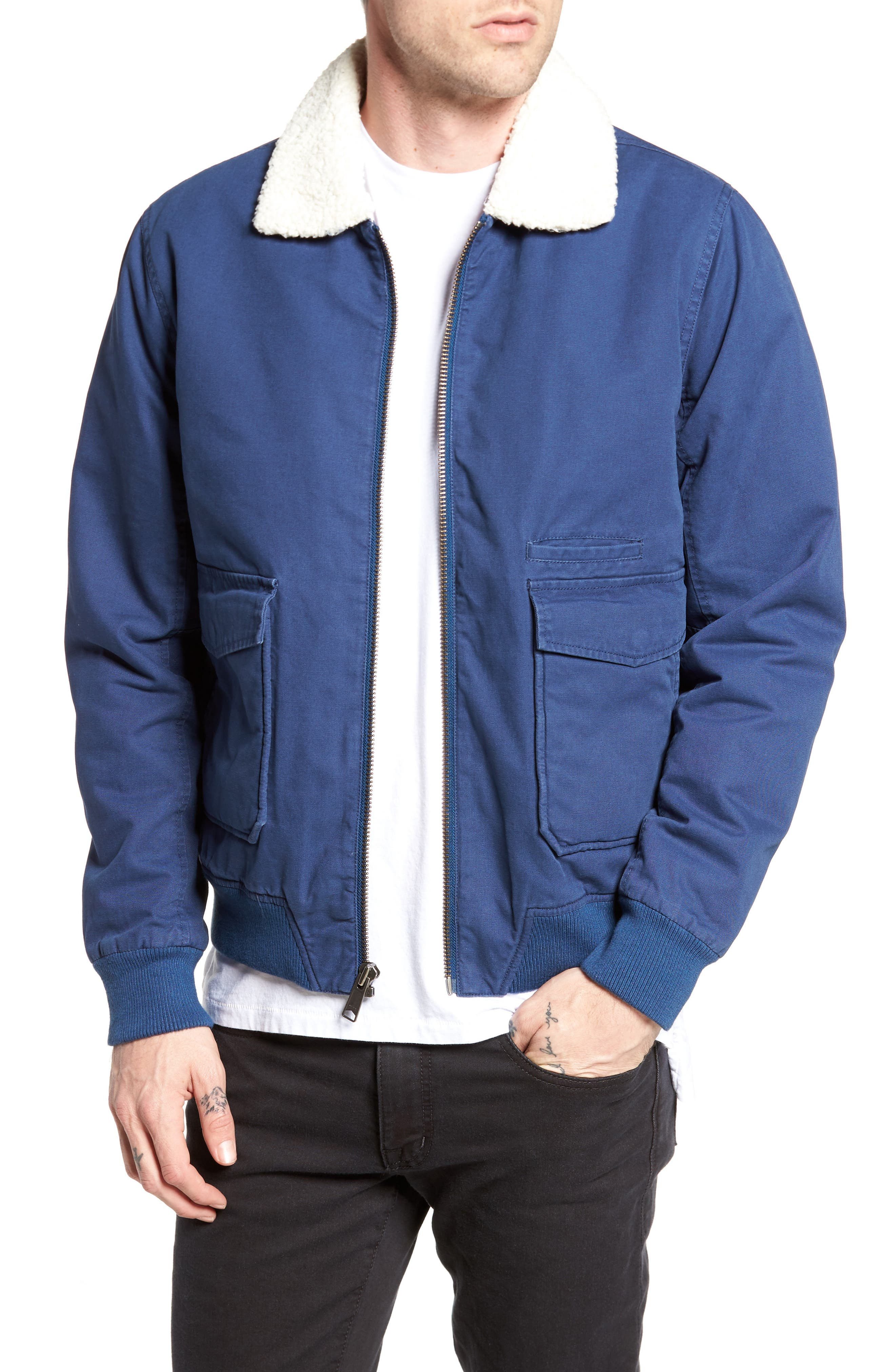 Houghton Jacket,                         Main,                         color, Uniform Blue