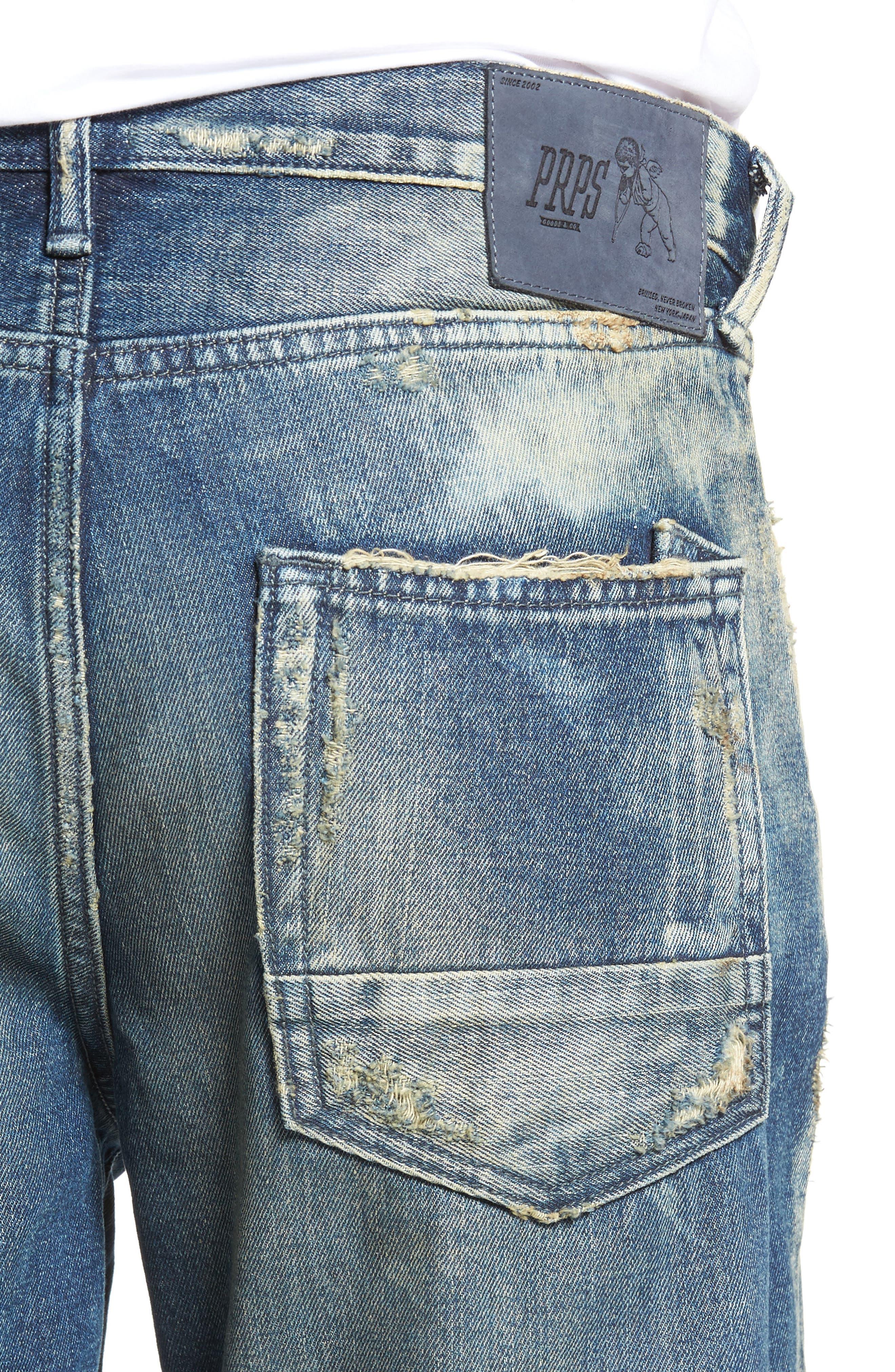 Alternate Image 4  - PRPS Slim Straight Leg Jeans (Hip)