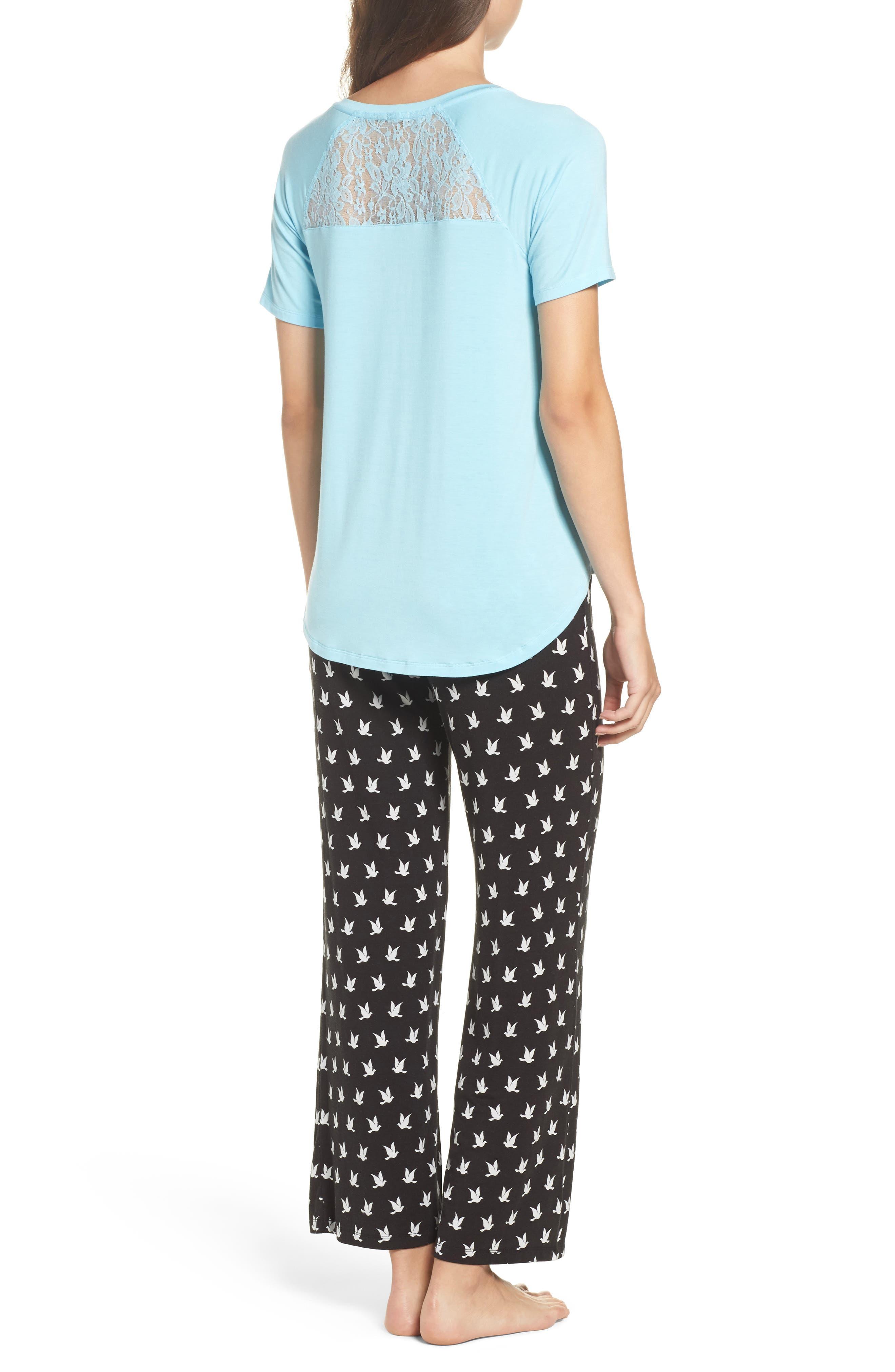 Pajamas,                             Alternate thumbnail 2, color,                             Black