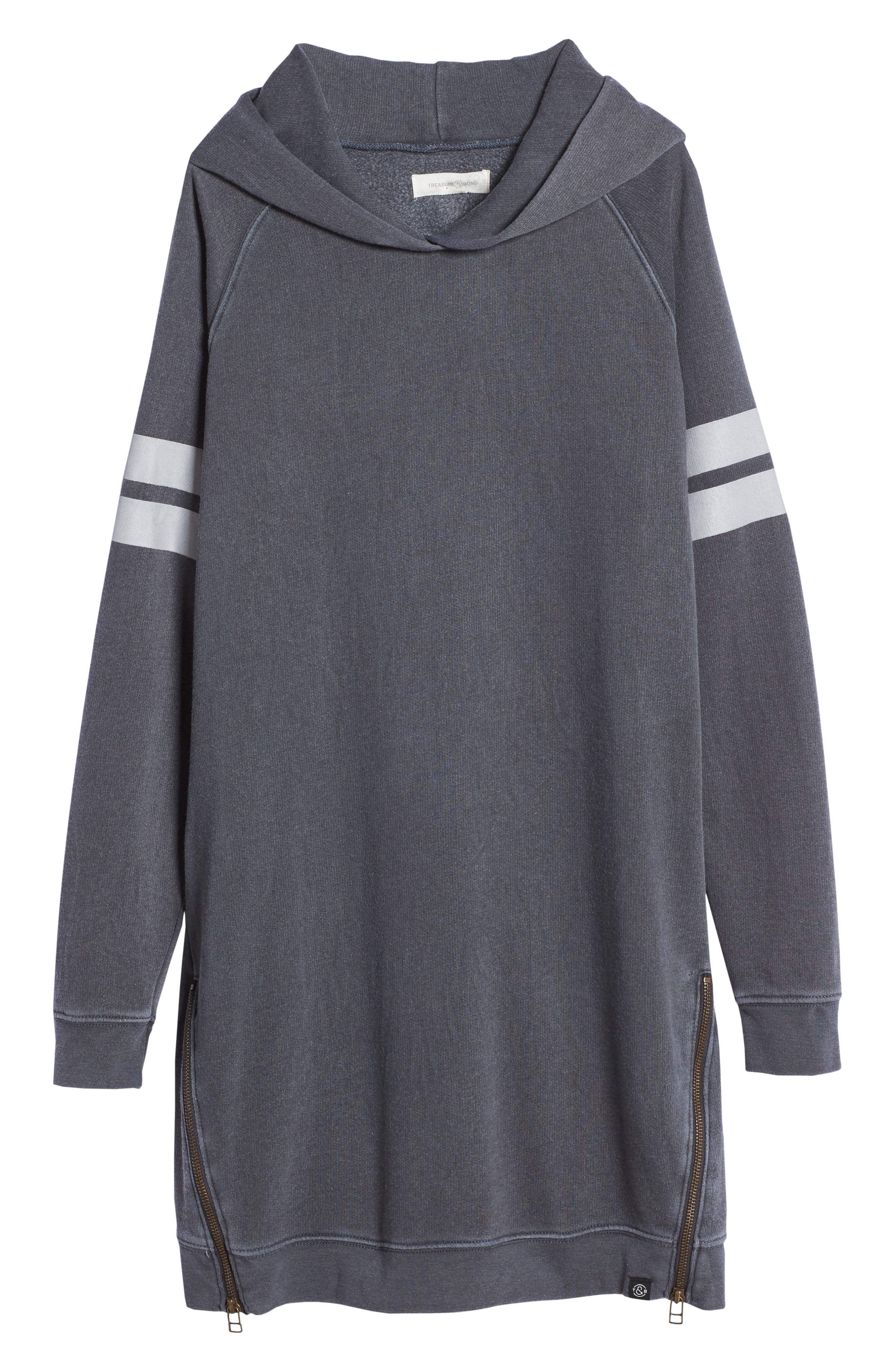 Treasure & Bond Hooded Fleece Sweatshirt Dress (Big Girls)