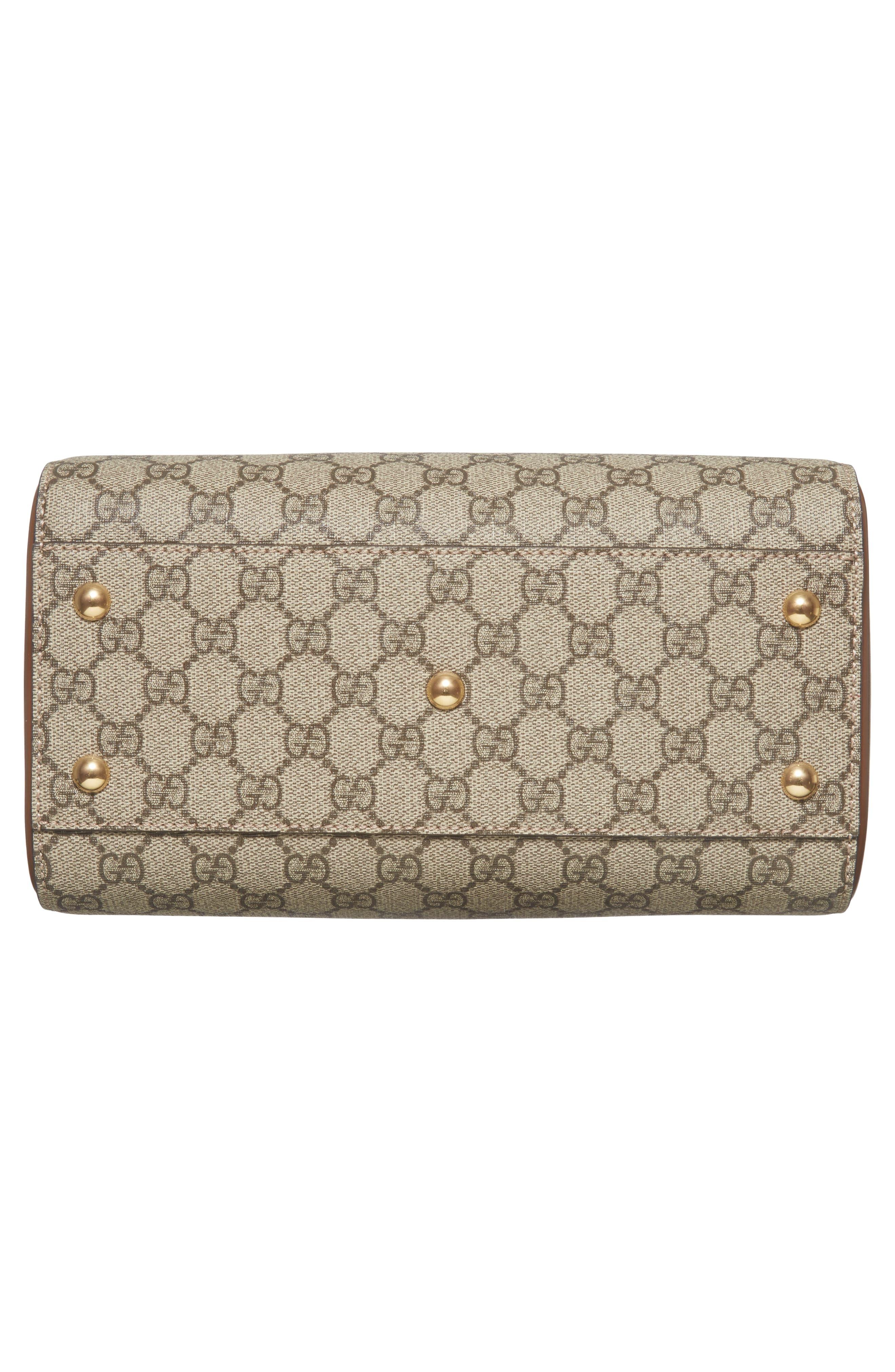 Alternate Image 6  - Gucci Linea Top Handle GG Supreme Canvas & Leather Bag