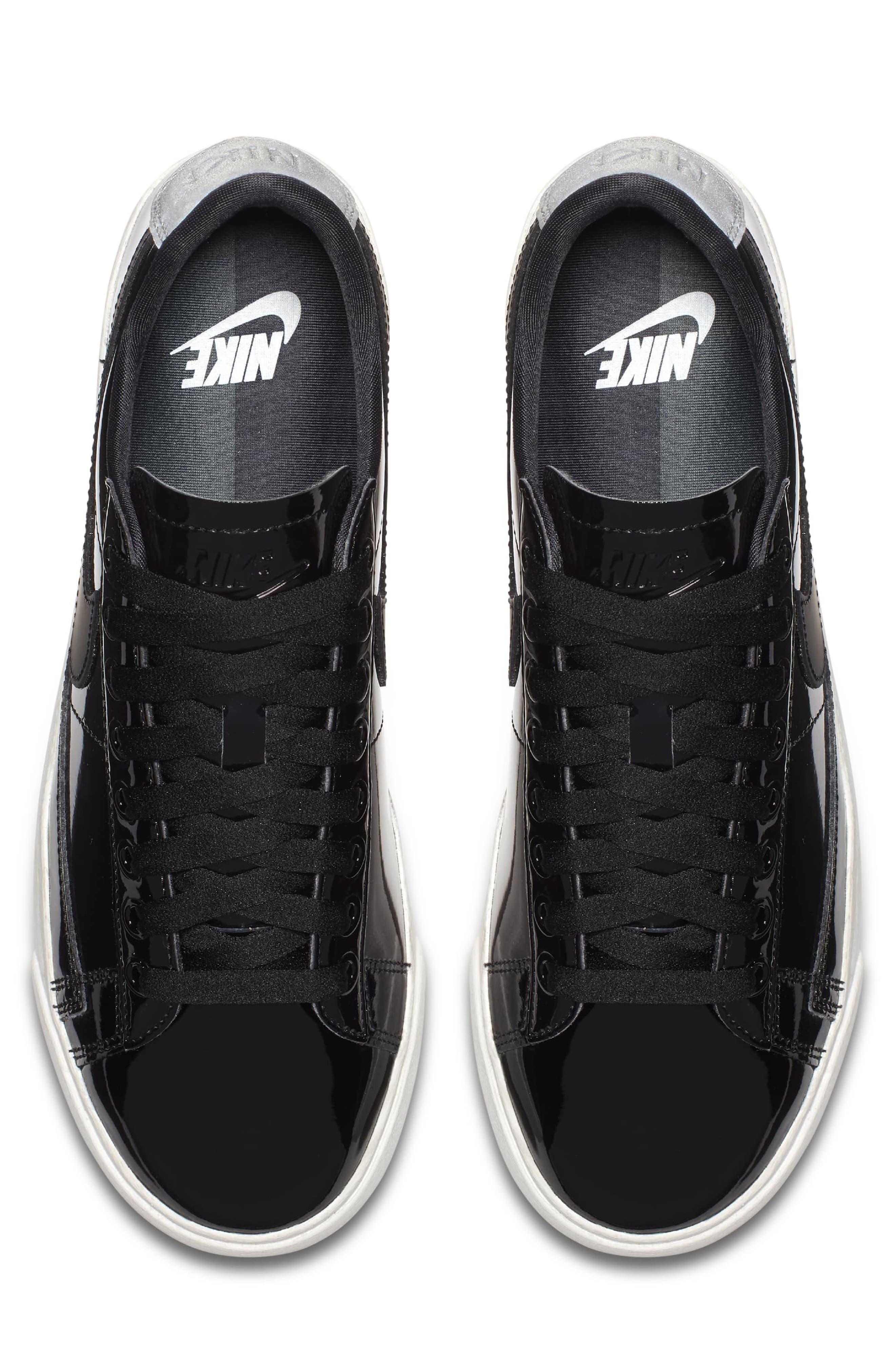 Blazer Low Top Sneaker SE,                             Alternate thumbnail 3, color,                             Black/ Black Reflect Silver