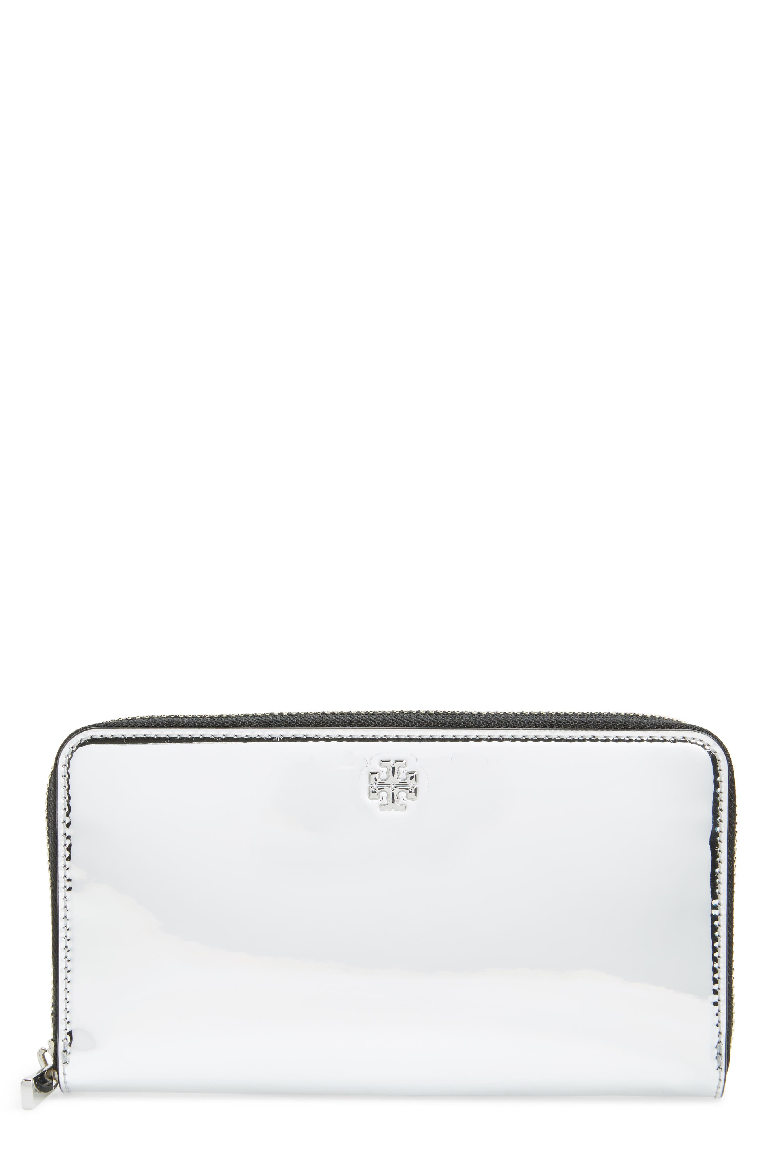 Tory Burch Robinson Patent Leather Continental Wallet