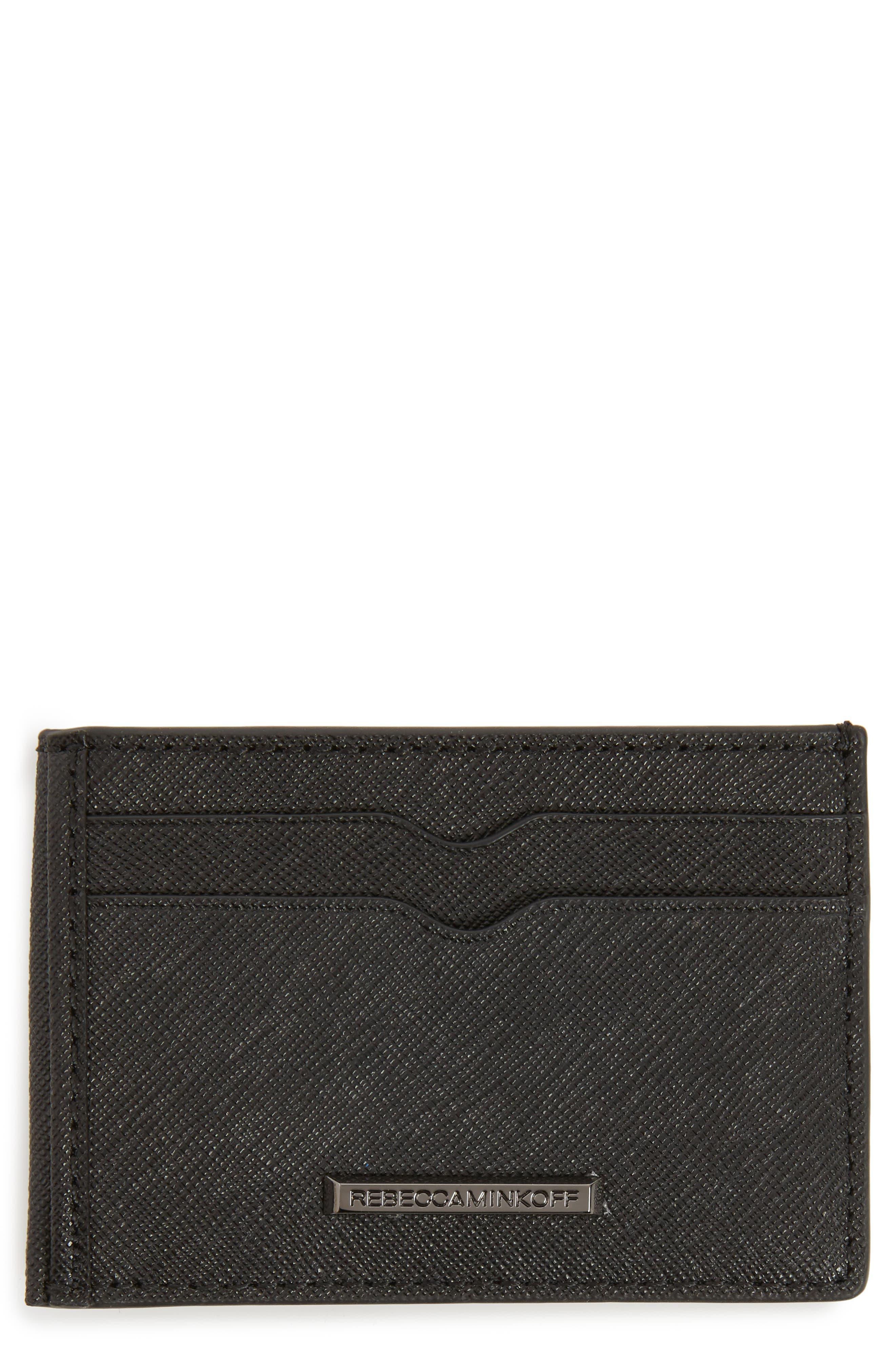 Metro Leather Card Case,                             Main thumbnail 1, color,                             Black