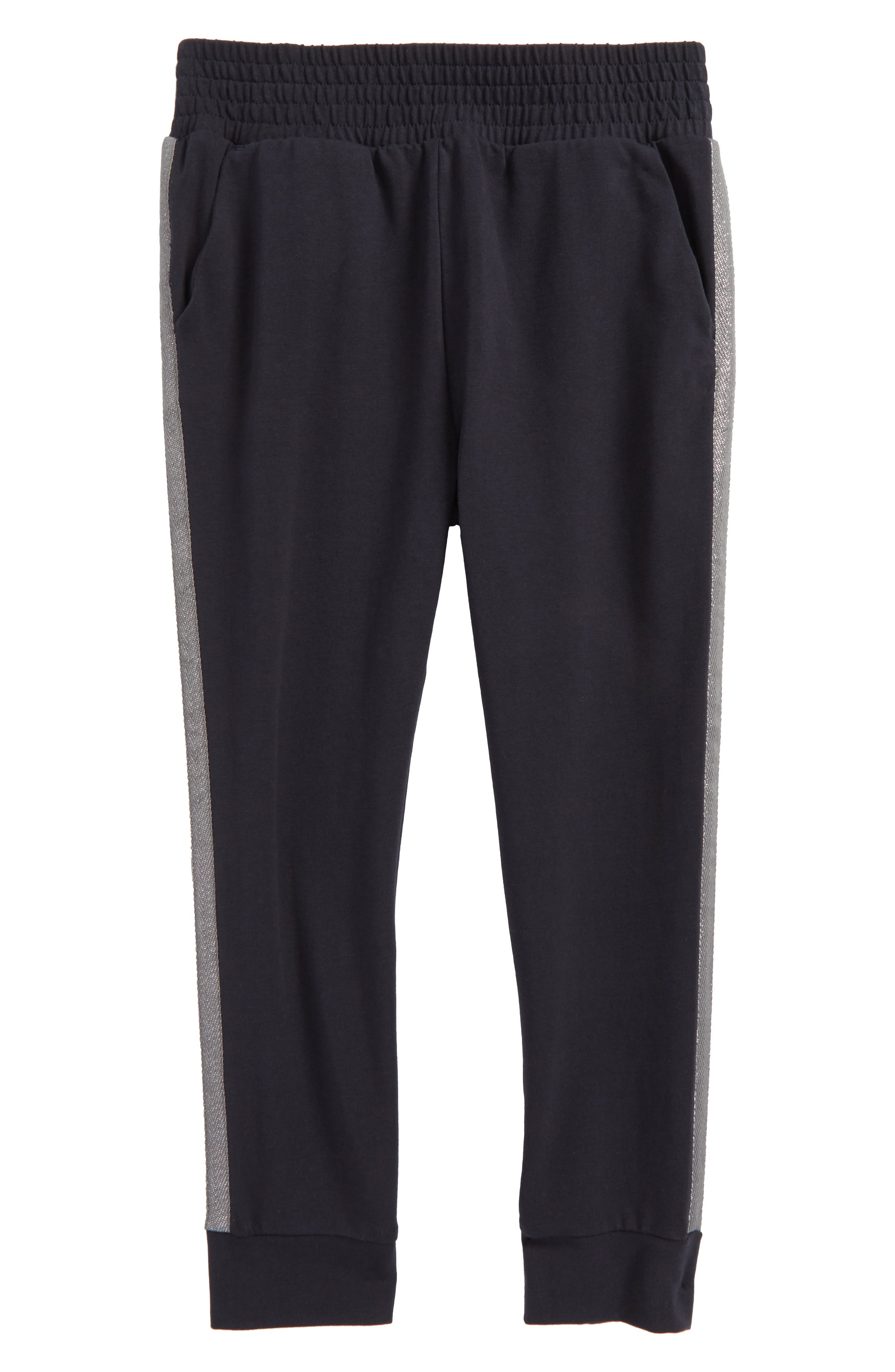 Main Image - Tea Collection Tuxedo Stripe Jogger Pants (Toddler Girls, Little Girls & Big Girls)