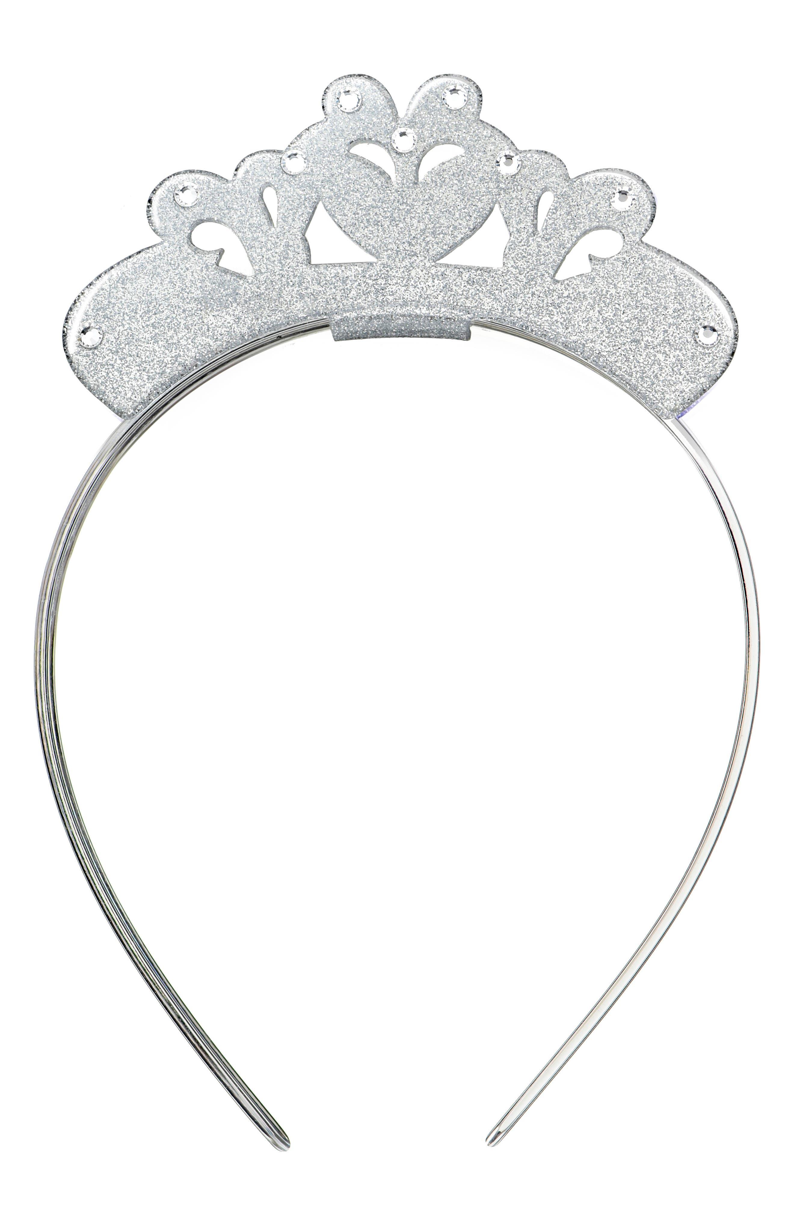 Lilies & Roses NY Crown Headband,                         Main,                         color, Silver