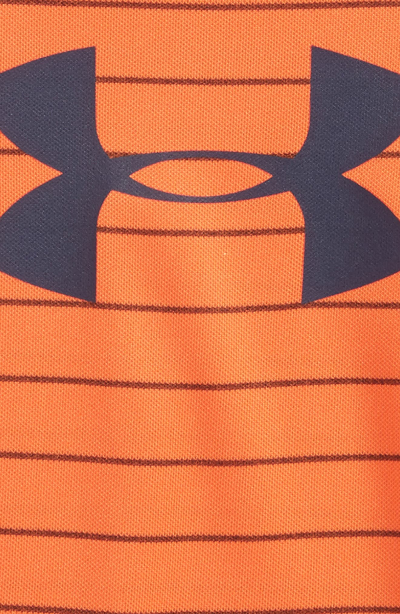 Big Logo Stripe Bodysuit,                             Alternate thumbnail 2, color,                             Magma Orange