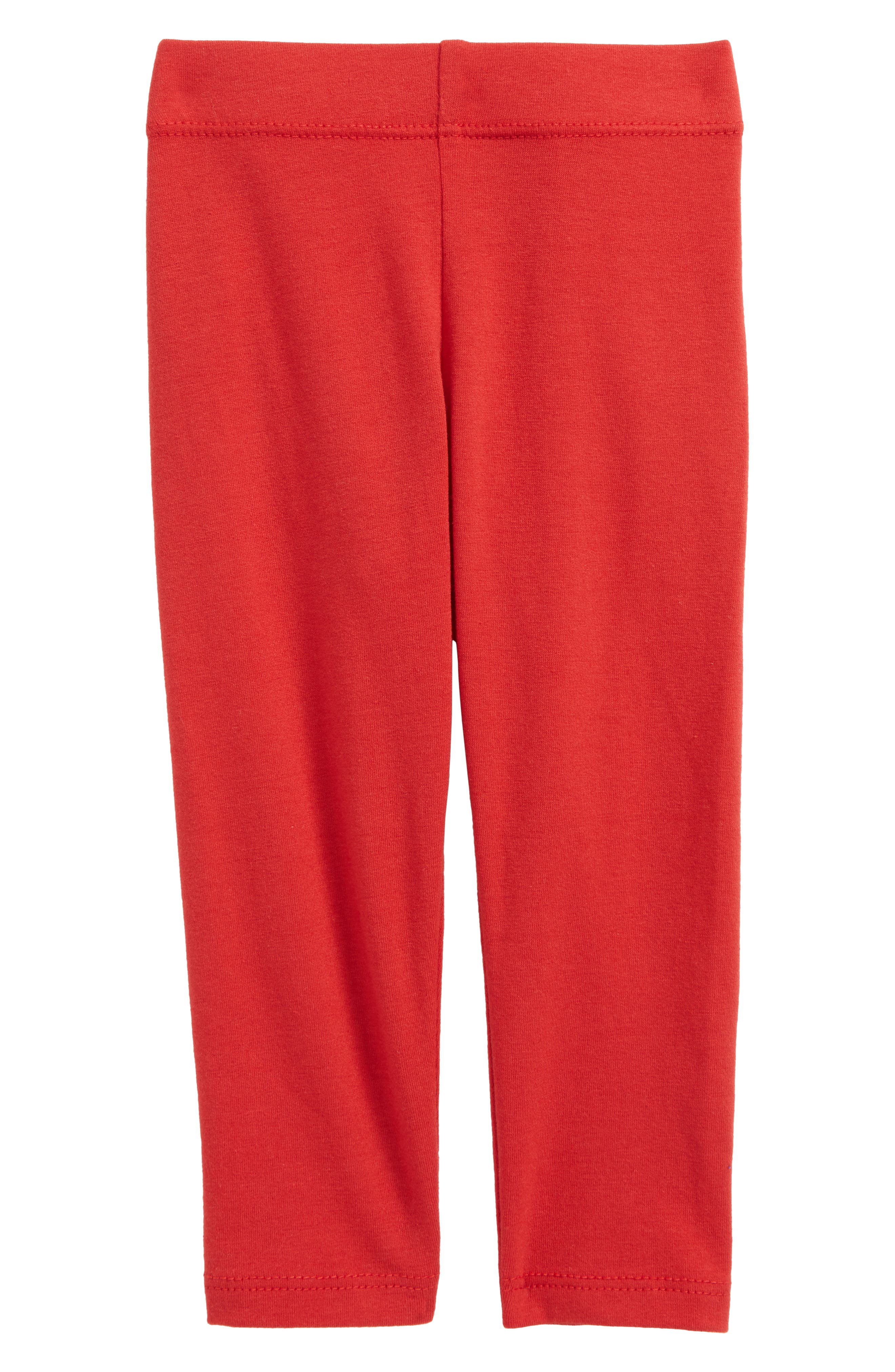 Essential Leggings,                         Main,                         color, Red Samba