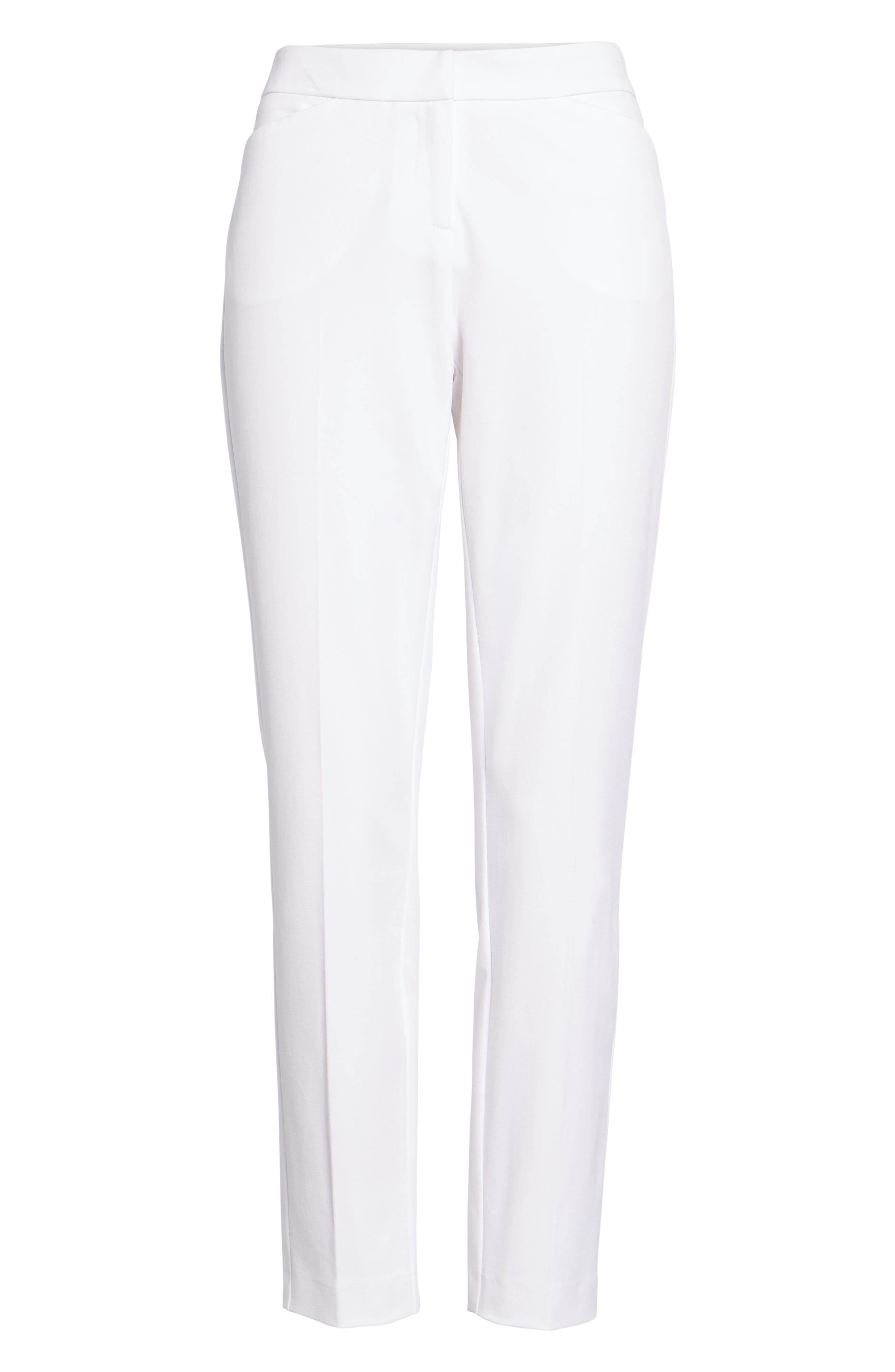 Ankle Pants,                             Alternate thumbnail 7, color,                             White