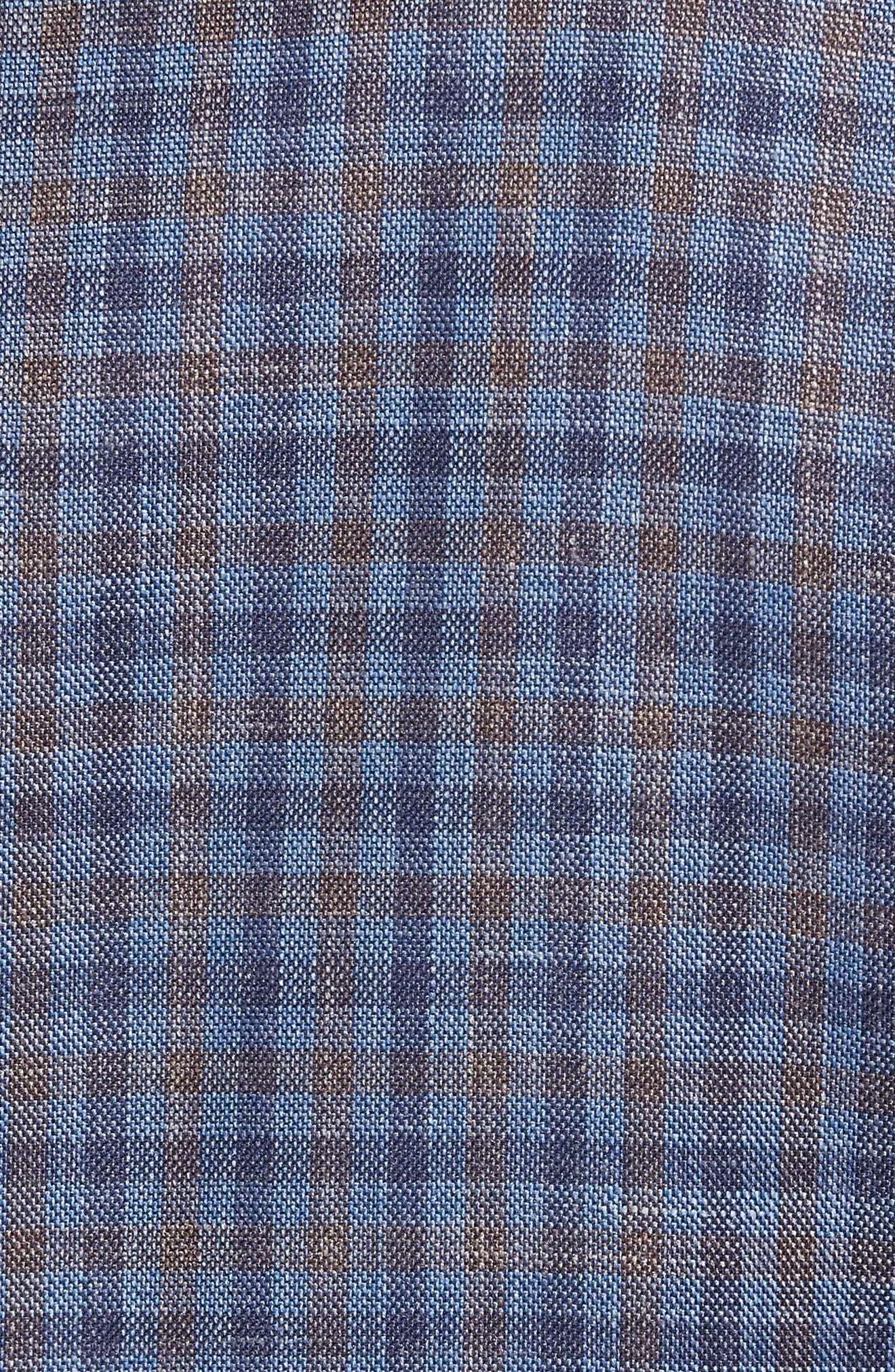 Alternate Image 5  - David Donahue Ashton Classic Fit Stretch Check Wool Blend Sport Coat