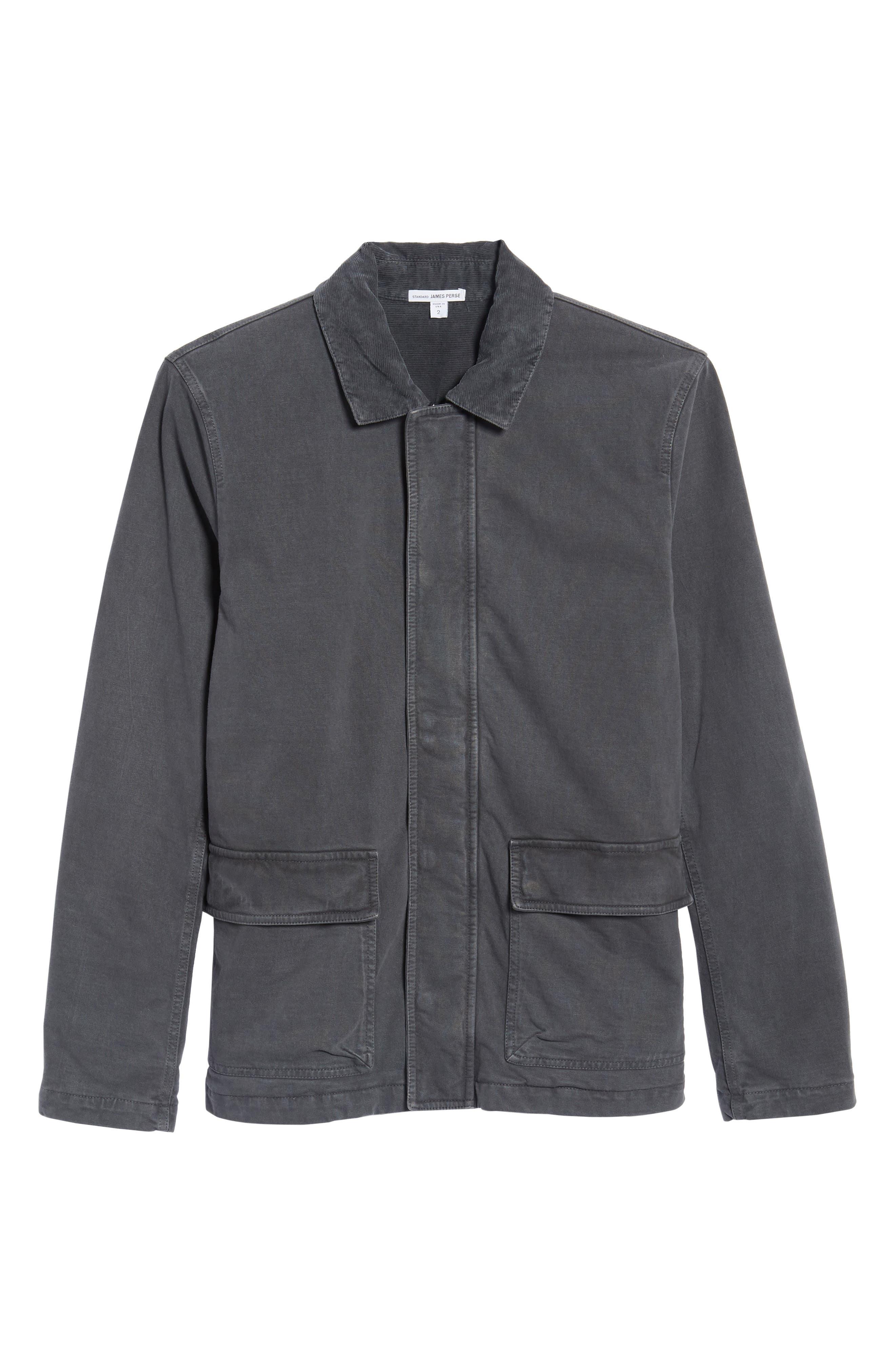 Garment Dyed Field Jacket,                             Alternate thumbnail 6, color,                             Carbon Pigment