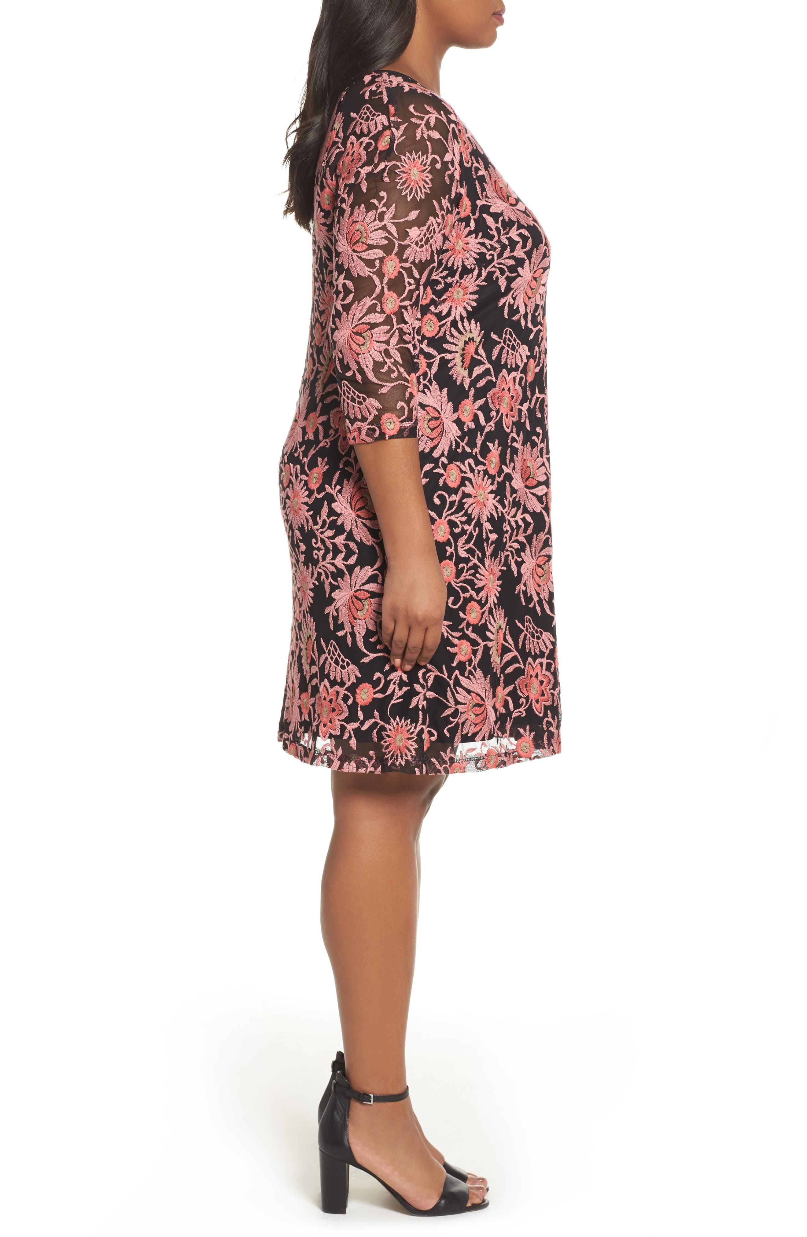 Alternate Image 3  - Adrianna Papell Marrakesh Embroidered Trapeze Dress (Plus Size)