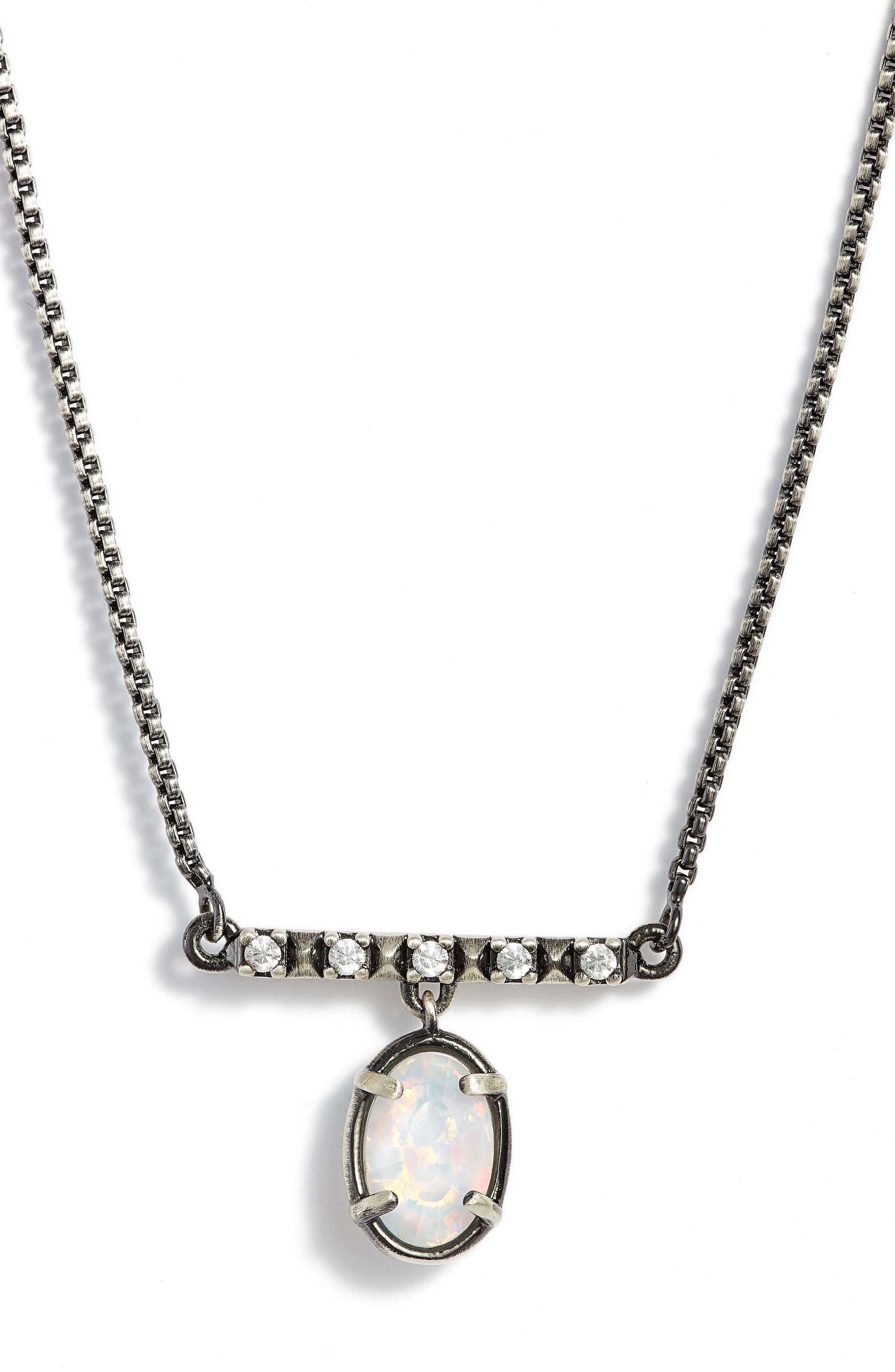 Alternate Image 1 Selected - Kendra Scott Fischer Opal Pendant Necklace