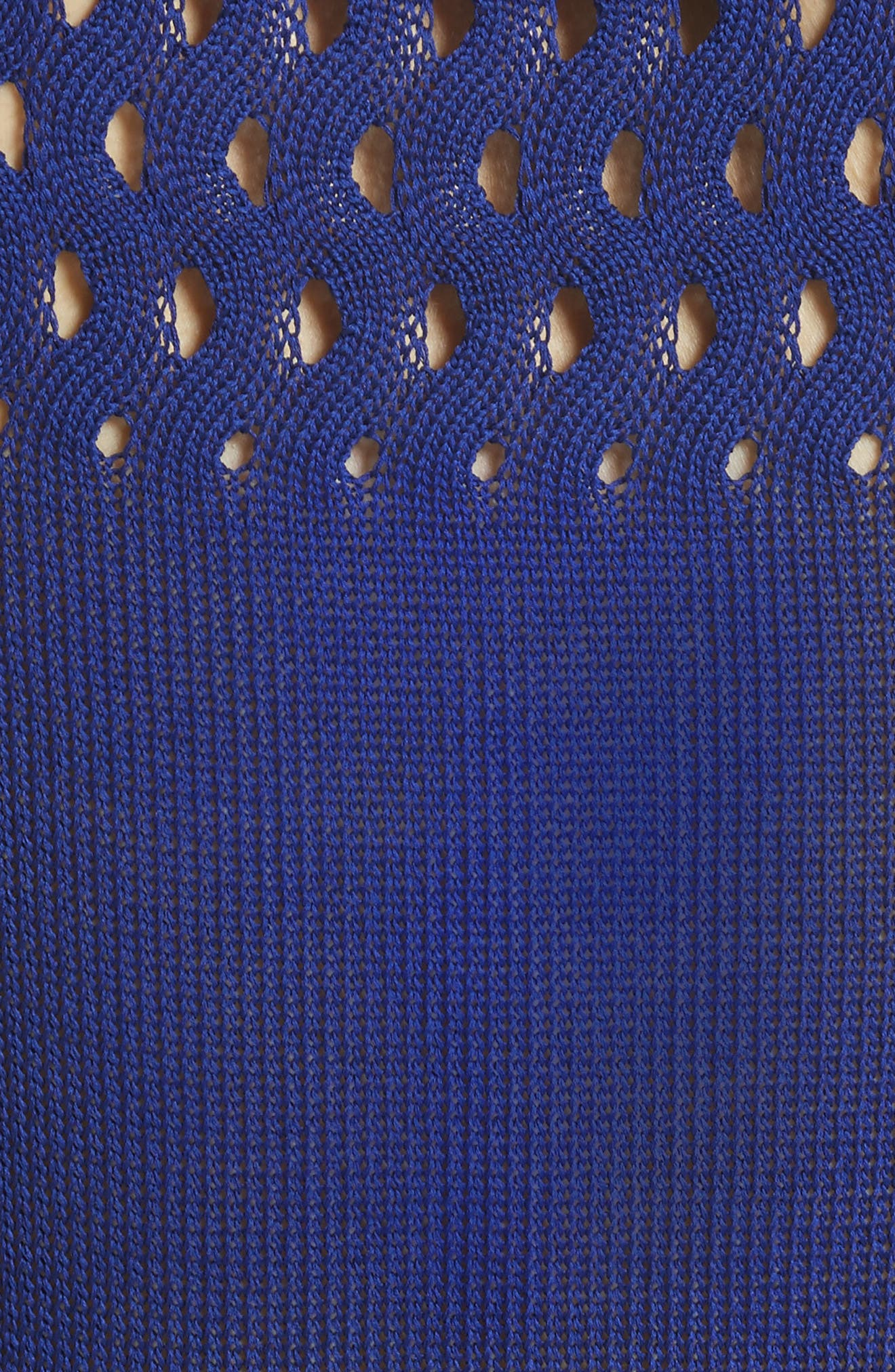 Cutout Knit Cotton Tank,                             Alternate thumbnail 5, color,                             Blue
