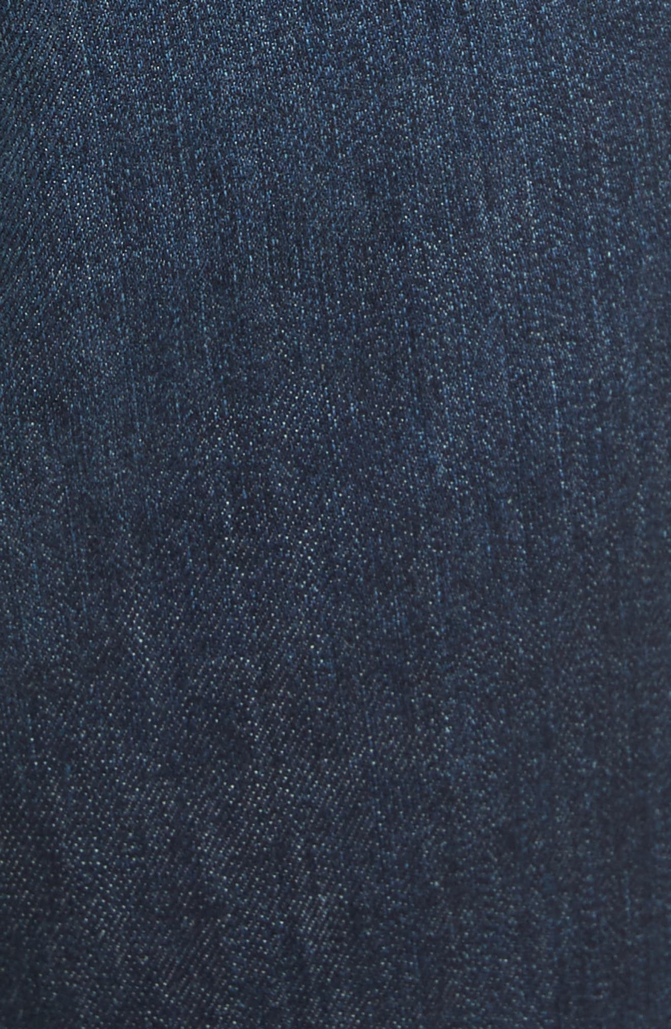 Alternate Image 5  - Veronica Beard Carolyn Tuxedo Stripe Baby Boot Crop Jeans