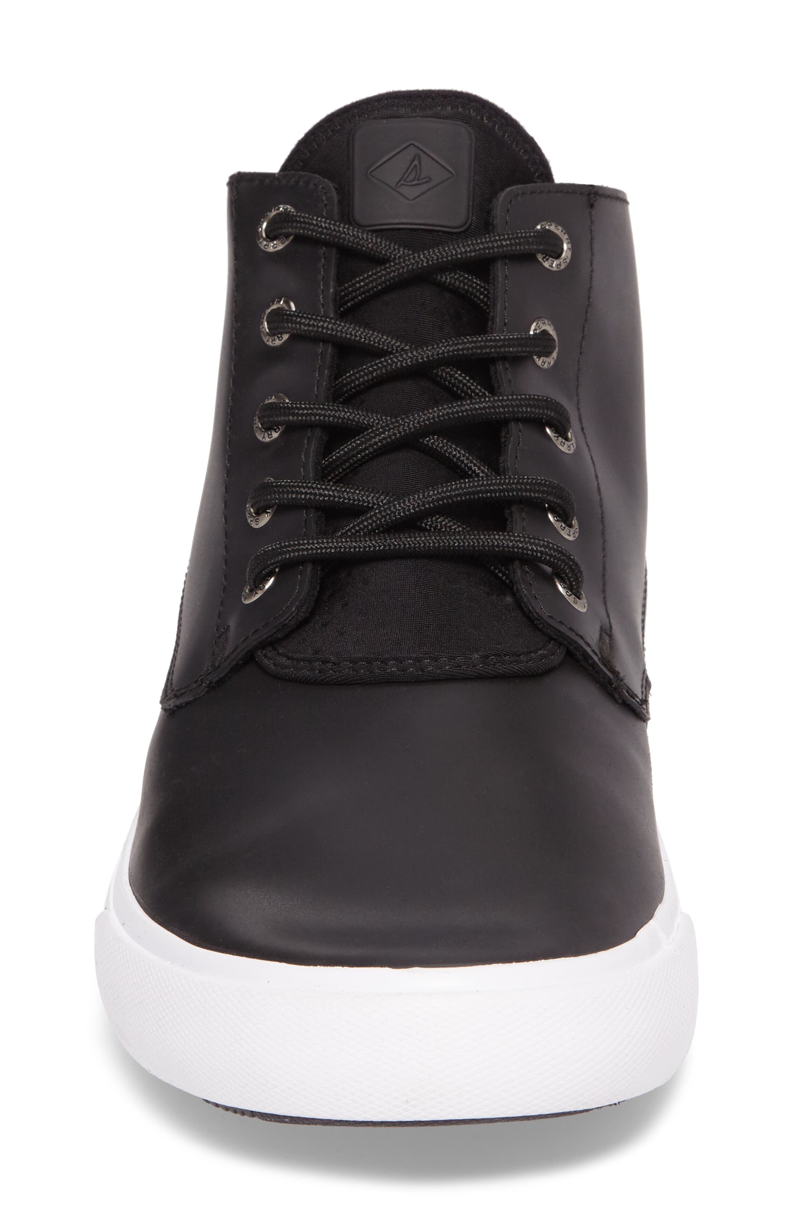 Cutwater Chukka Boot,                             Alternate thumbnail 4, color,                             Black Leather