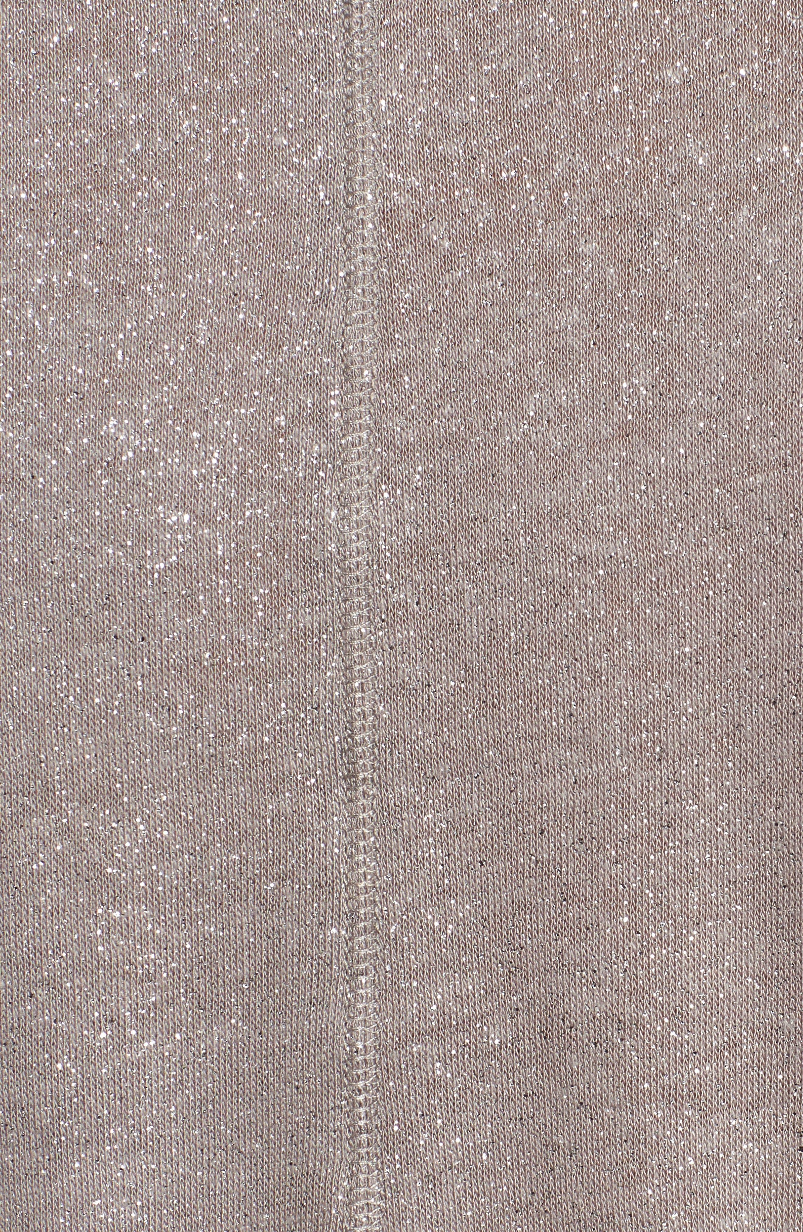 V-Neck Shimmer Tee,                             Alternate thumbnail 5, color,                             Grey Shimmer