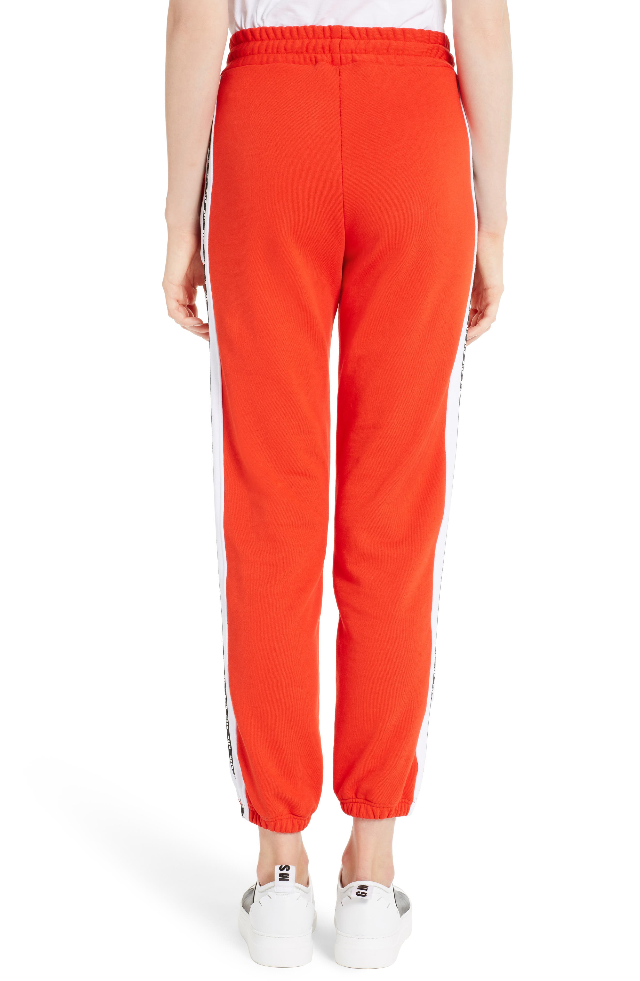 Logo Cotton Track Pants,                             Alternate thumbnail 2, color,                             Red 18