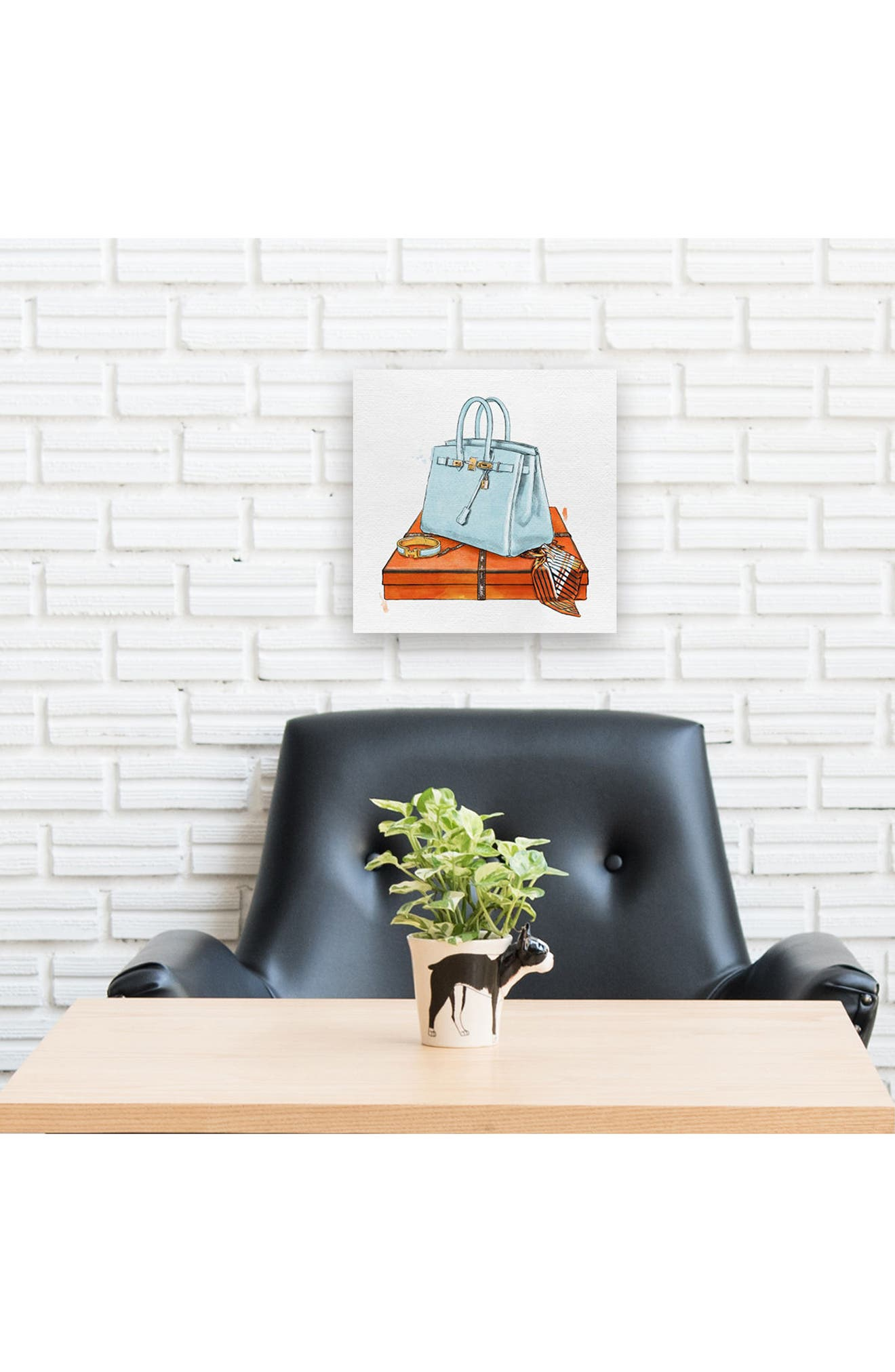 My Bag Collection I Canvas Print,                             Alternate thumbnail 3, color,                             Blue