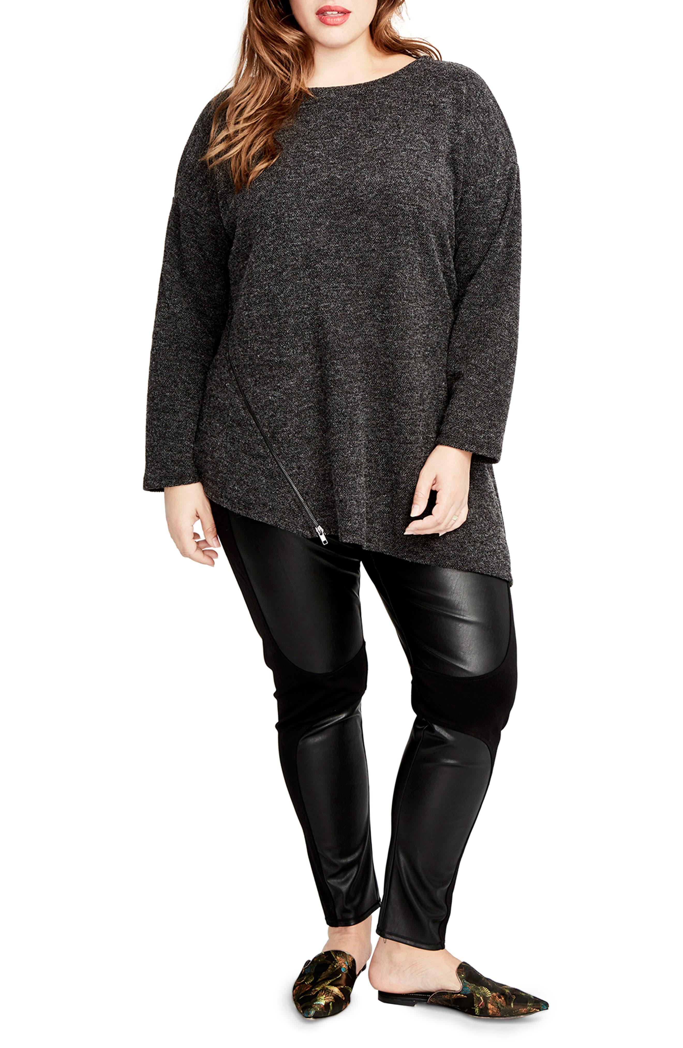 RACHEL Rachel Roy Betty Zip Detail Tunic (Plus Size)