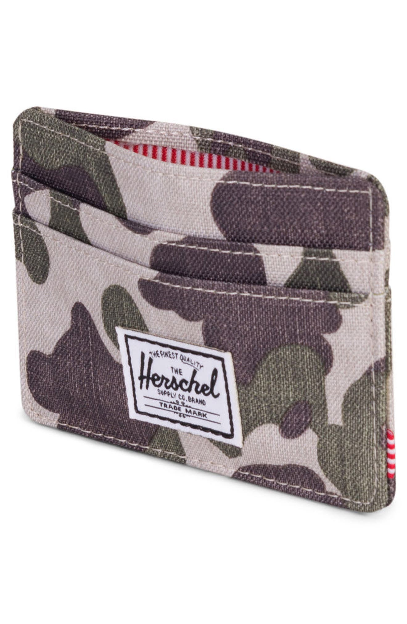 Charlie Card Case,                             Alternate thumbnail 4, color,                             Frog Camo