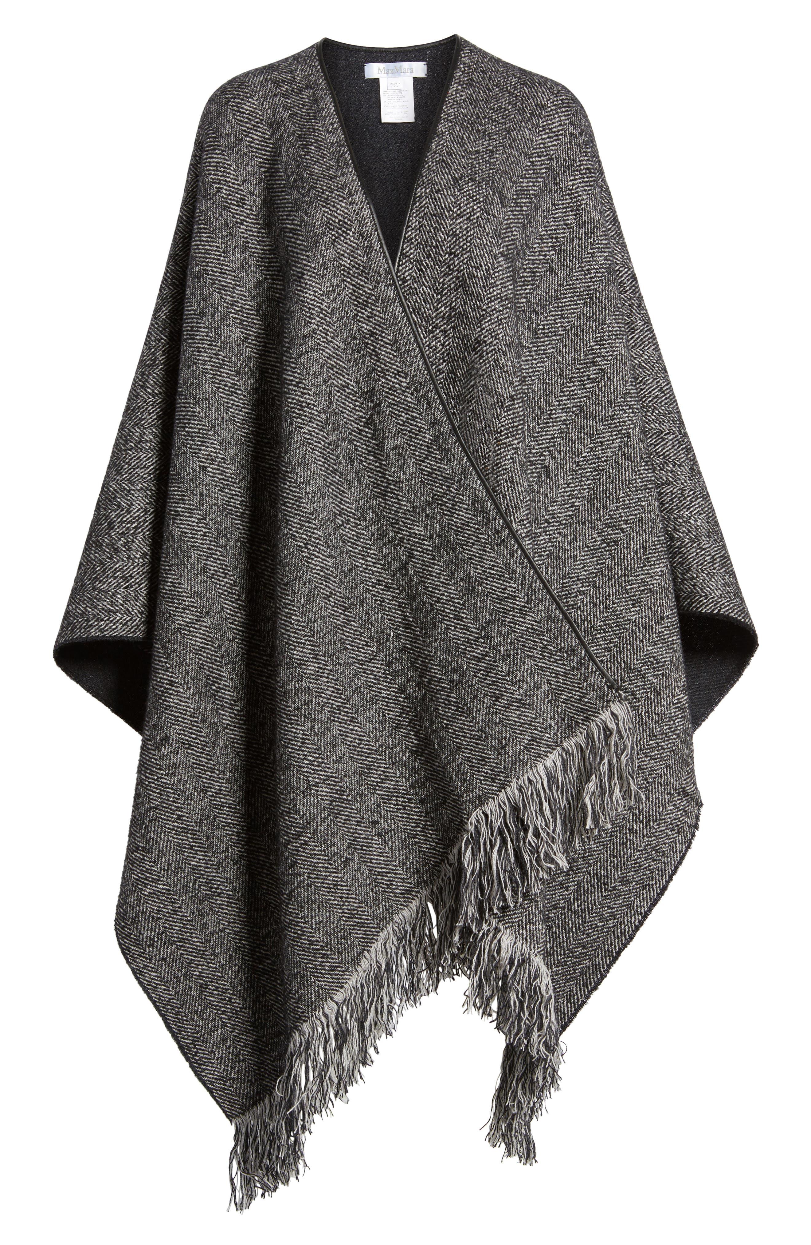 Alternate Image 6  - Max Mara Herringbone Cashmere & Wool Cape