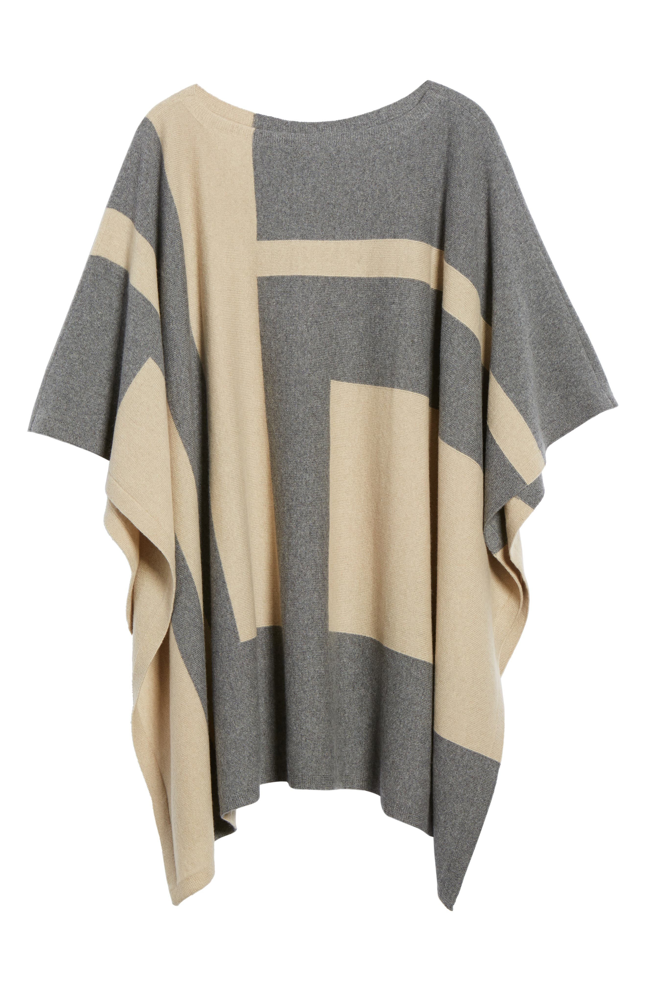 Alternate Image 7  - Eileen Fisher Colorblock Cashmere Blend Poncho