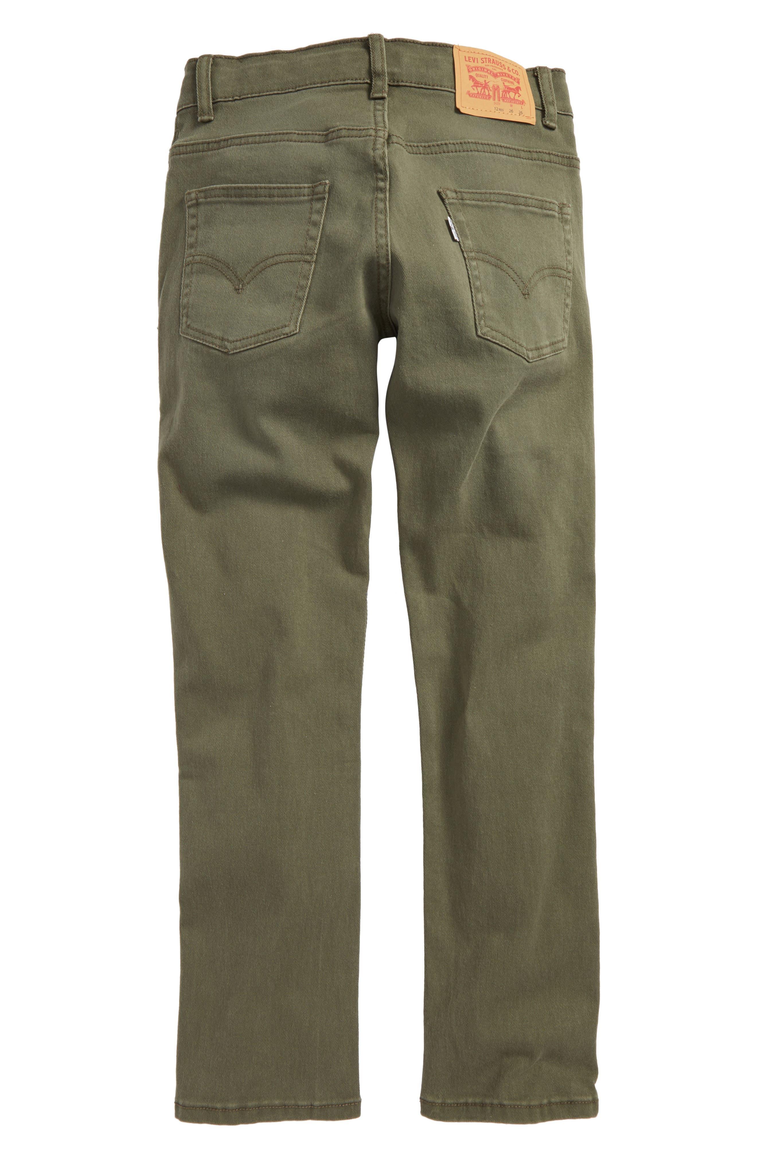 511 Slim Fit Jeans,                             Alternate thumbnail 3, color,                             Olive Night