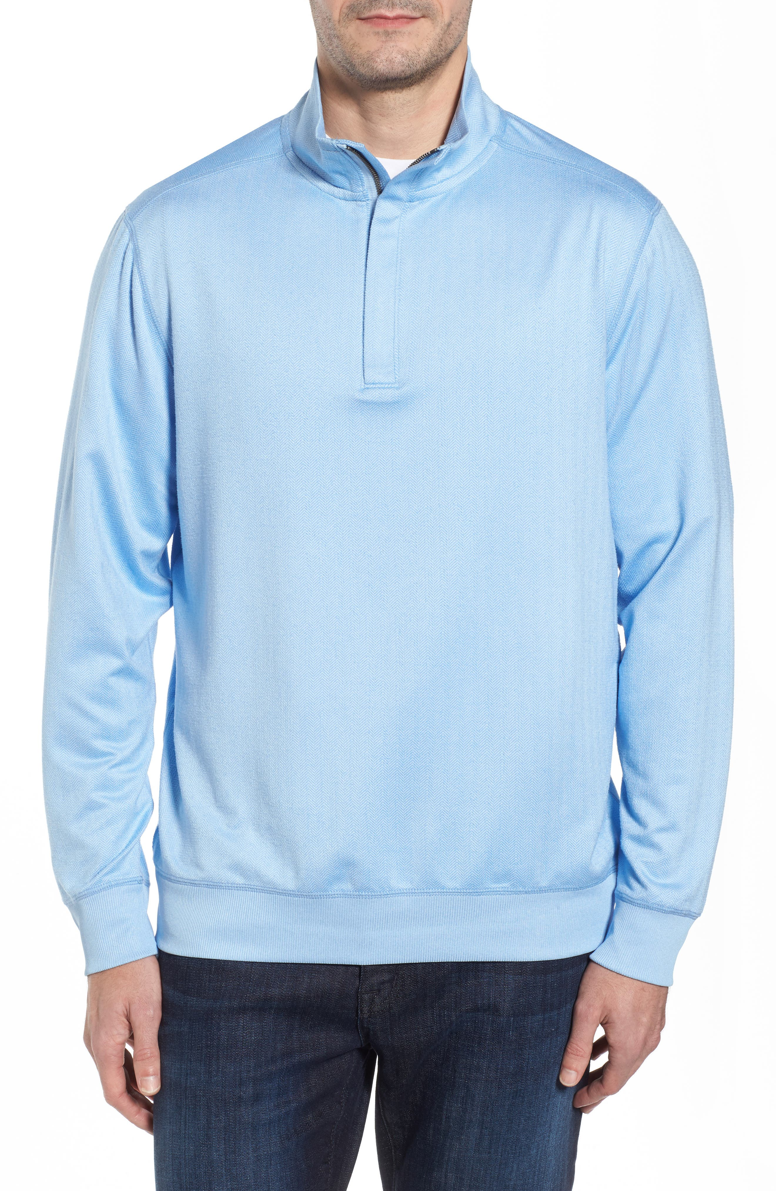 Alternate Image 1 Selected - Tommy Bahama Pro Formance Quarter Zip Sweater