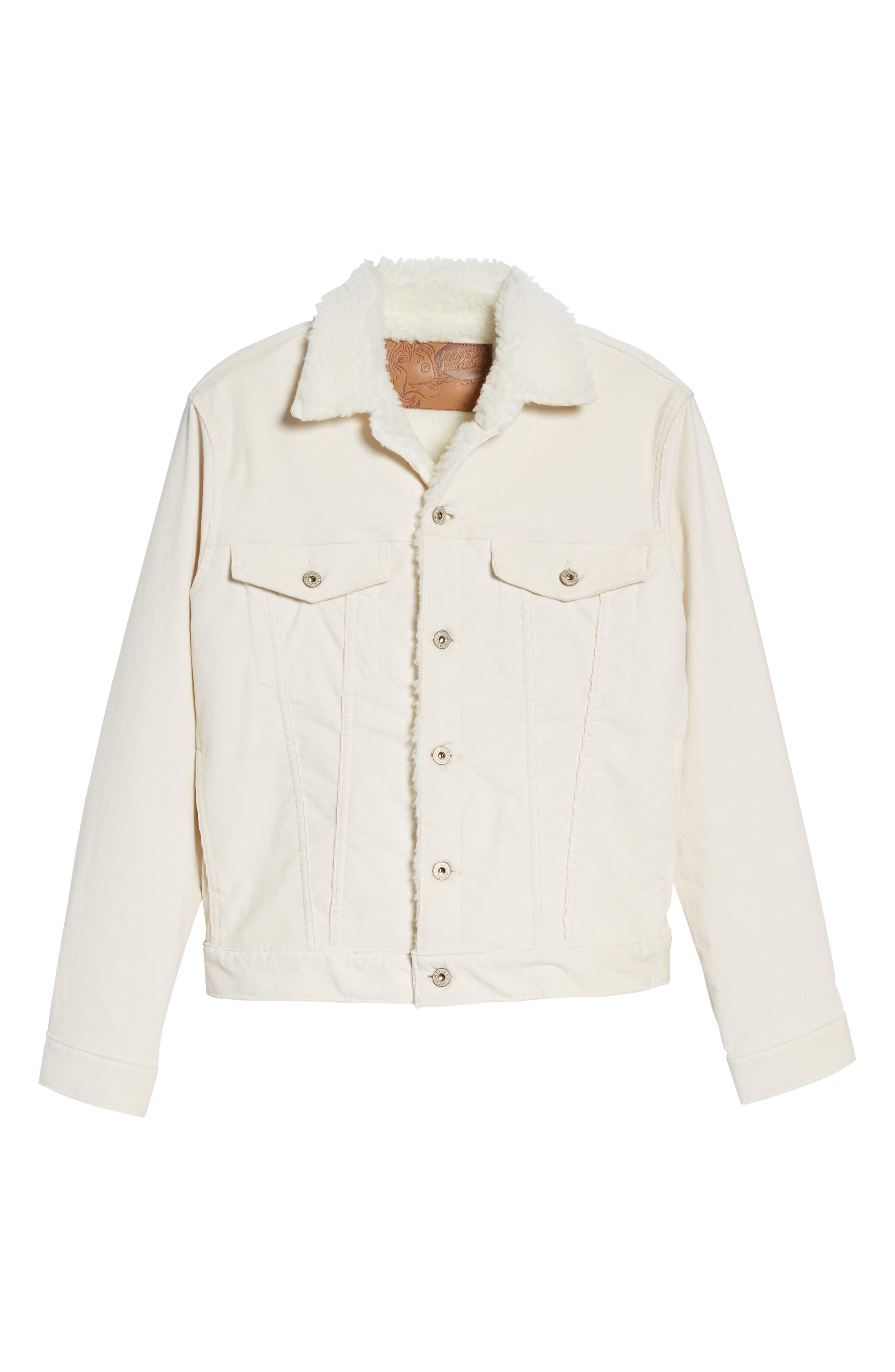 Alternate Image 6  - Naked & Famous Denim Faux Shearling Lined Denim Jacket