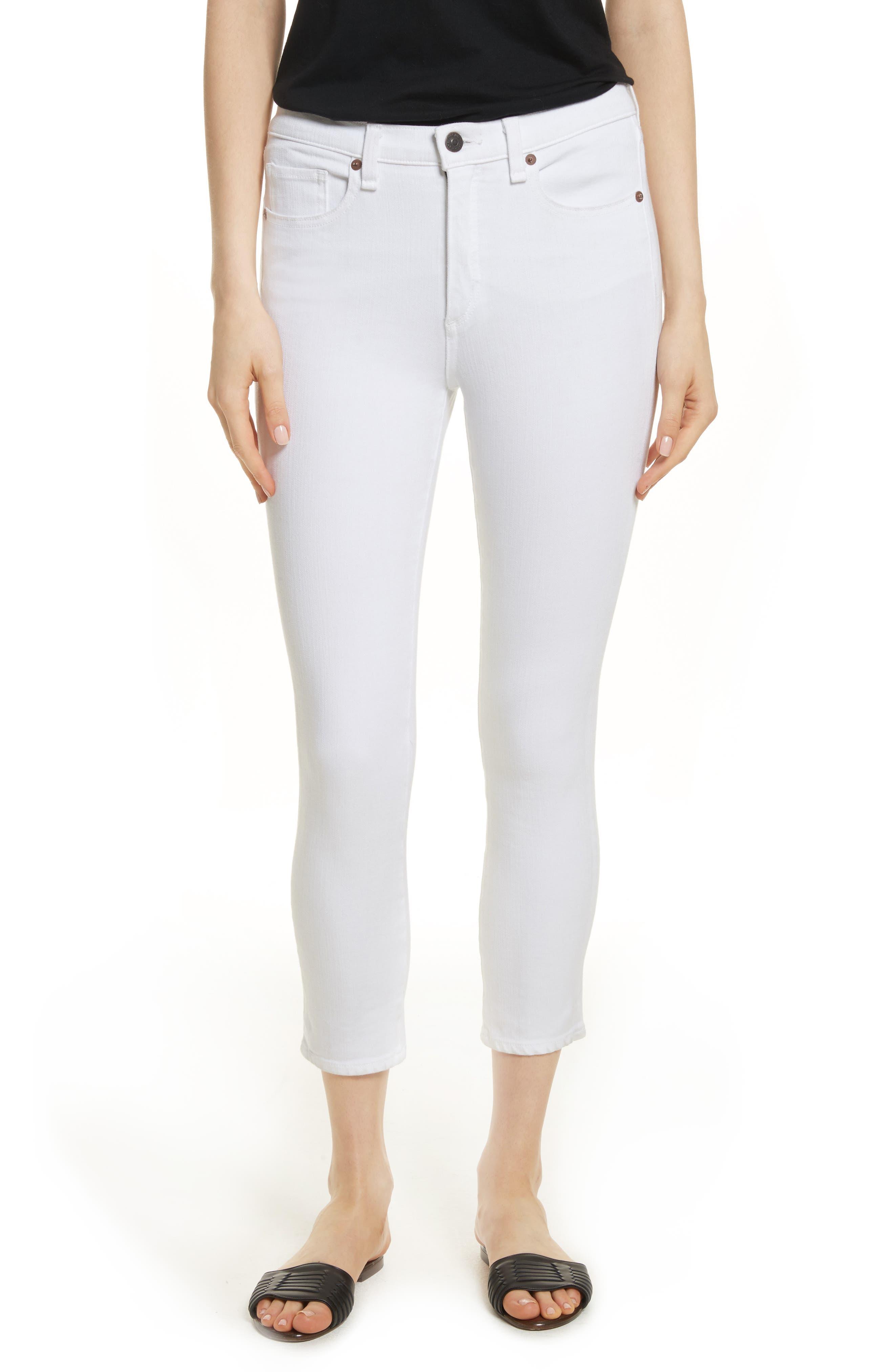 Kate Capri Jeans,                             Main thumbnail 1, color,                             White